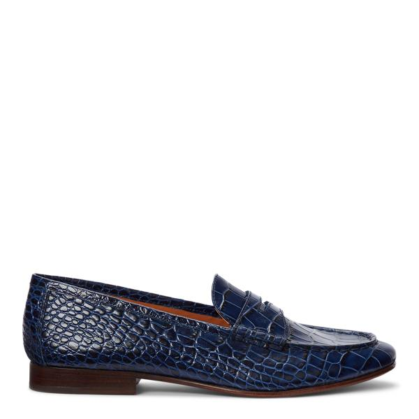 Ashtyn Embossed Leather Loafer 0