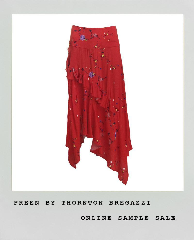 PREEN LINE RED FLORAL  SKIRT