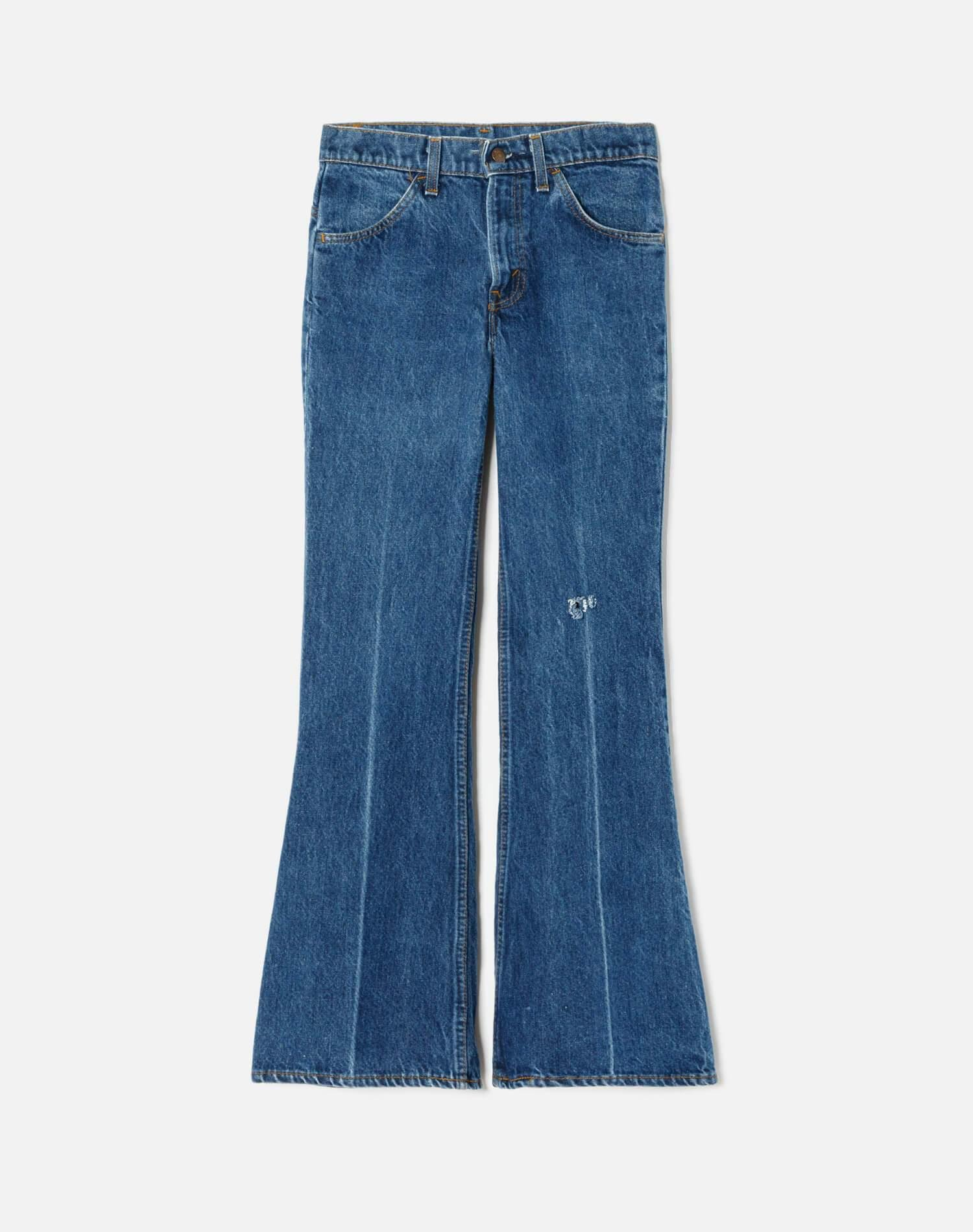 1970s Vintage Levi's Low Rise Wide Leg With Rip Size 25 - #171