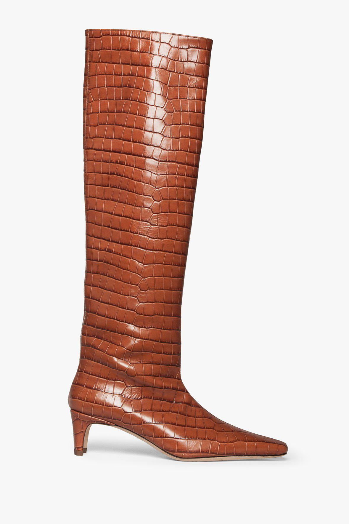 WALLY BOOT | SADDLE CROC EMBOSSED
