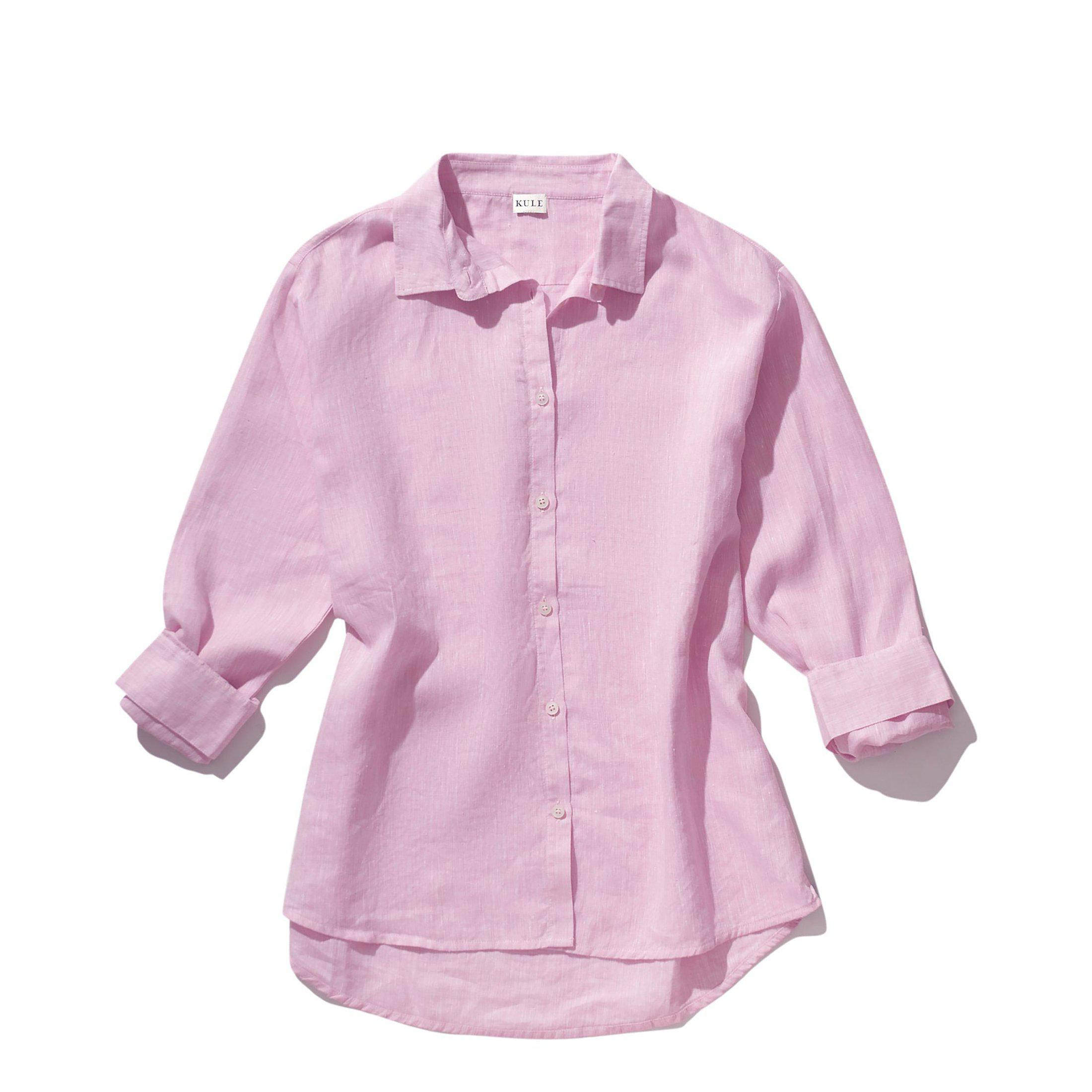 The Linen Oversized Hutton - Pink 1