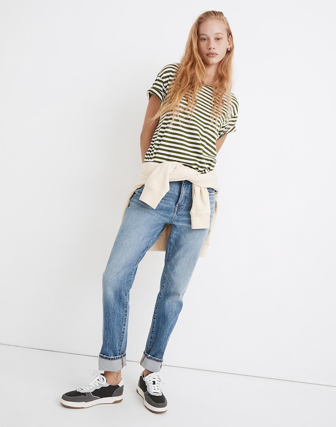 Tomboy Straight Jeans in Wright Wash