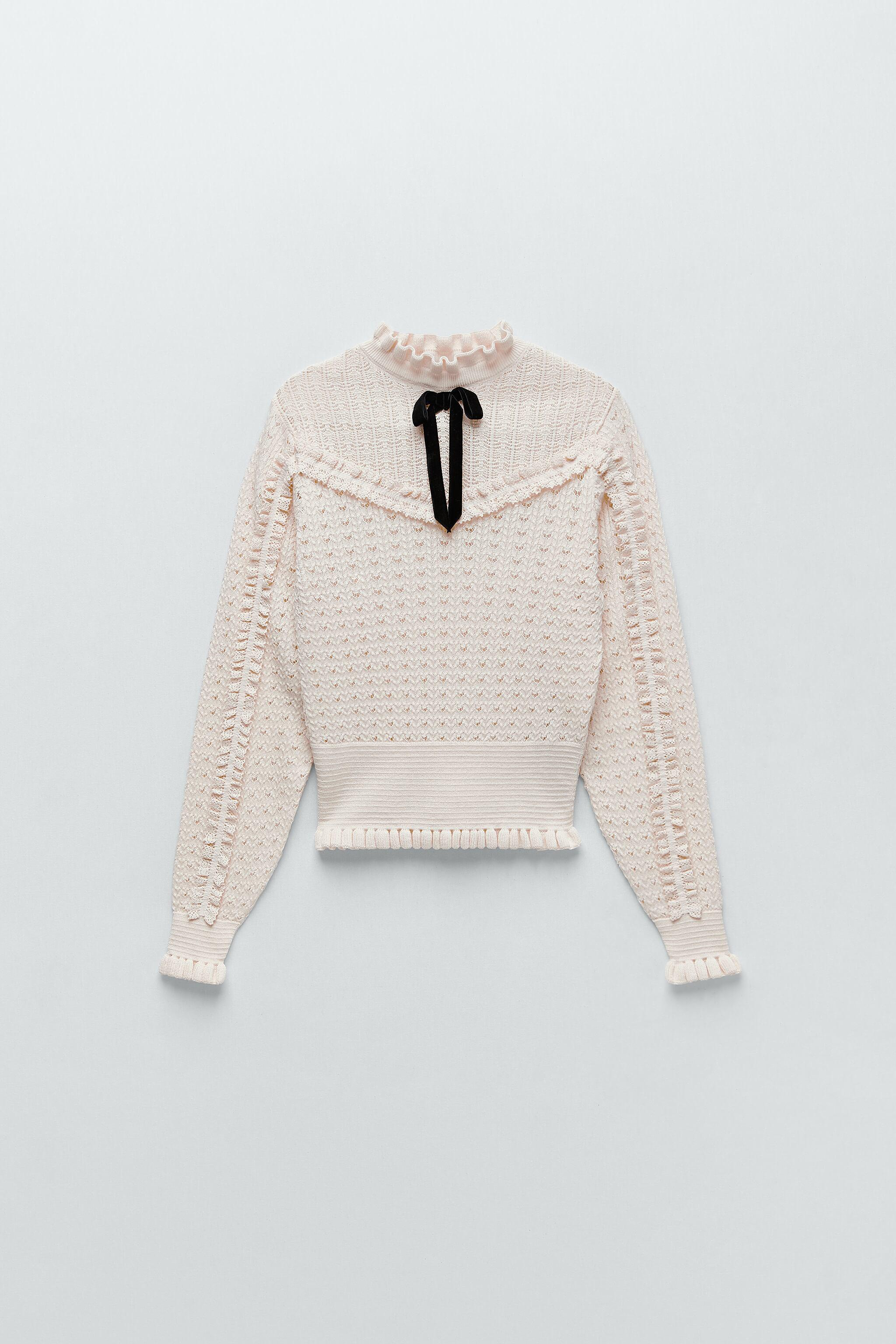 TIED KNIT SWEATER 4
