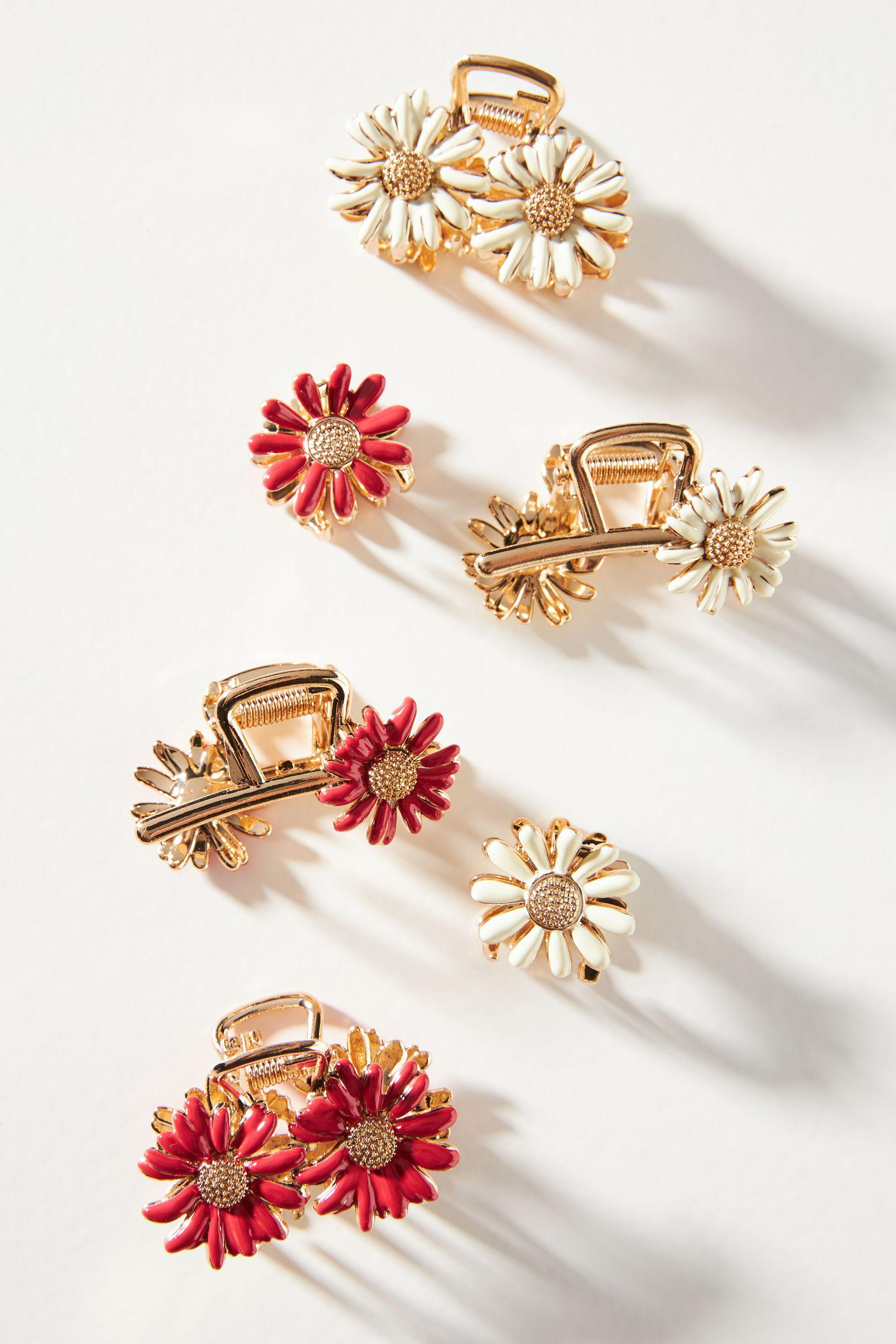 Daisy Embellished Claw Hair Clip Set