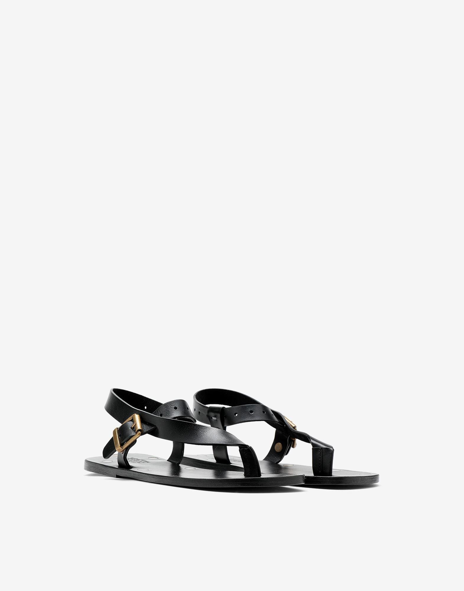 Leather T-bar sandals 1