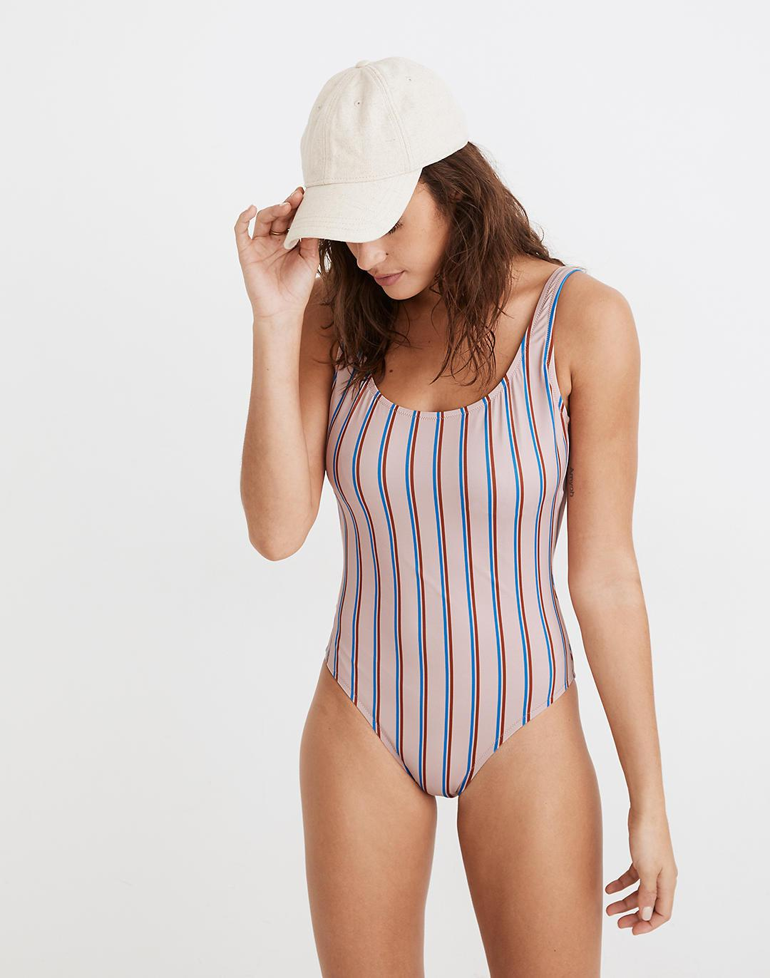 Madewell Second Wave Tank One-Piece Swimsuit in Paseo Stripe