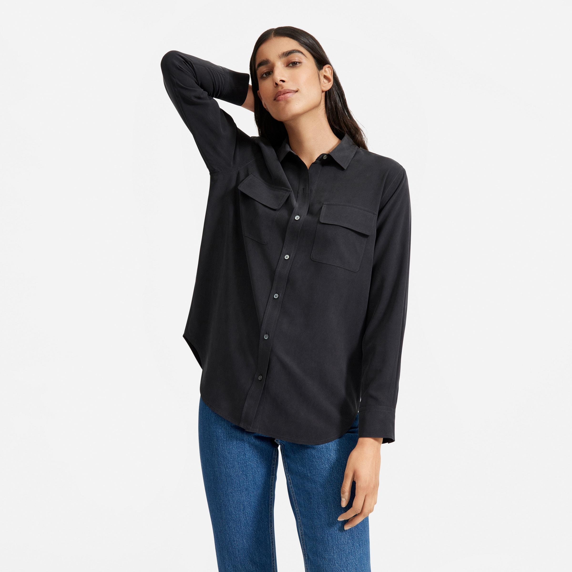 The Washable Silk Relaxed Shirt