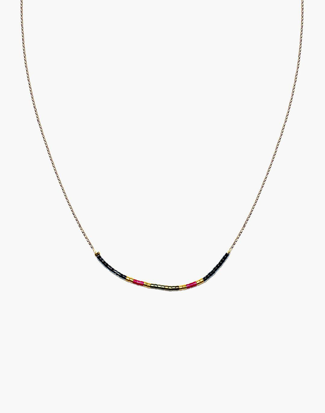 Cast of Stones Beaded Intention Necklace in Red Multicolor