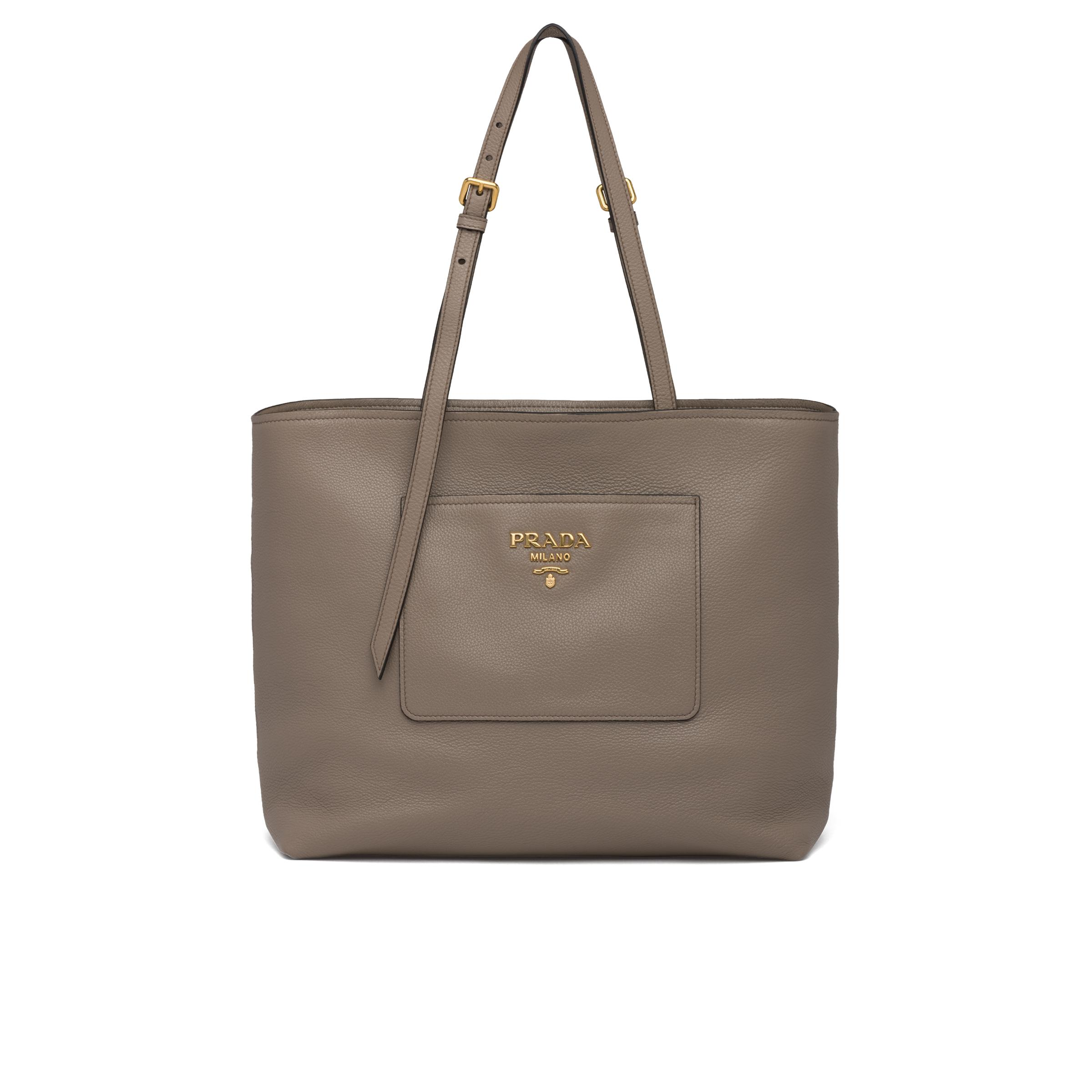 Leather Tote Women Clay Gray