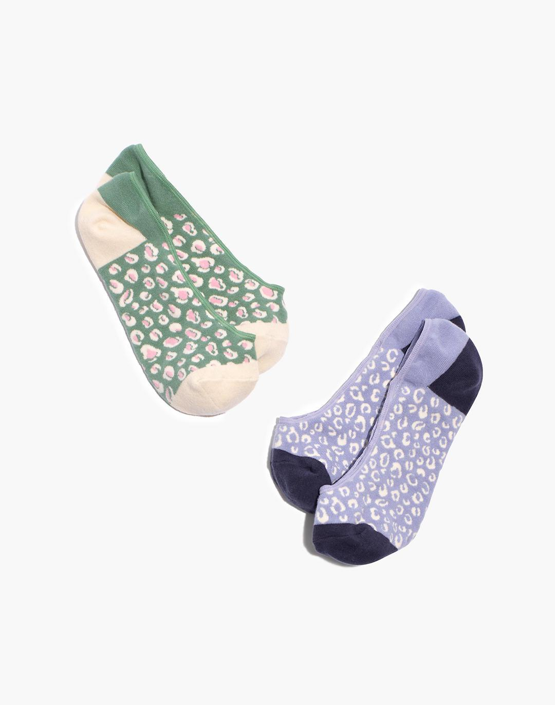 Two-Pack Inked Leopard Low-Profile Socks