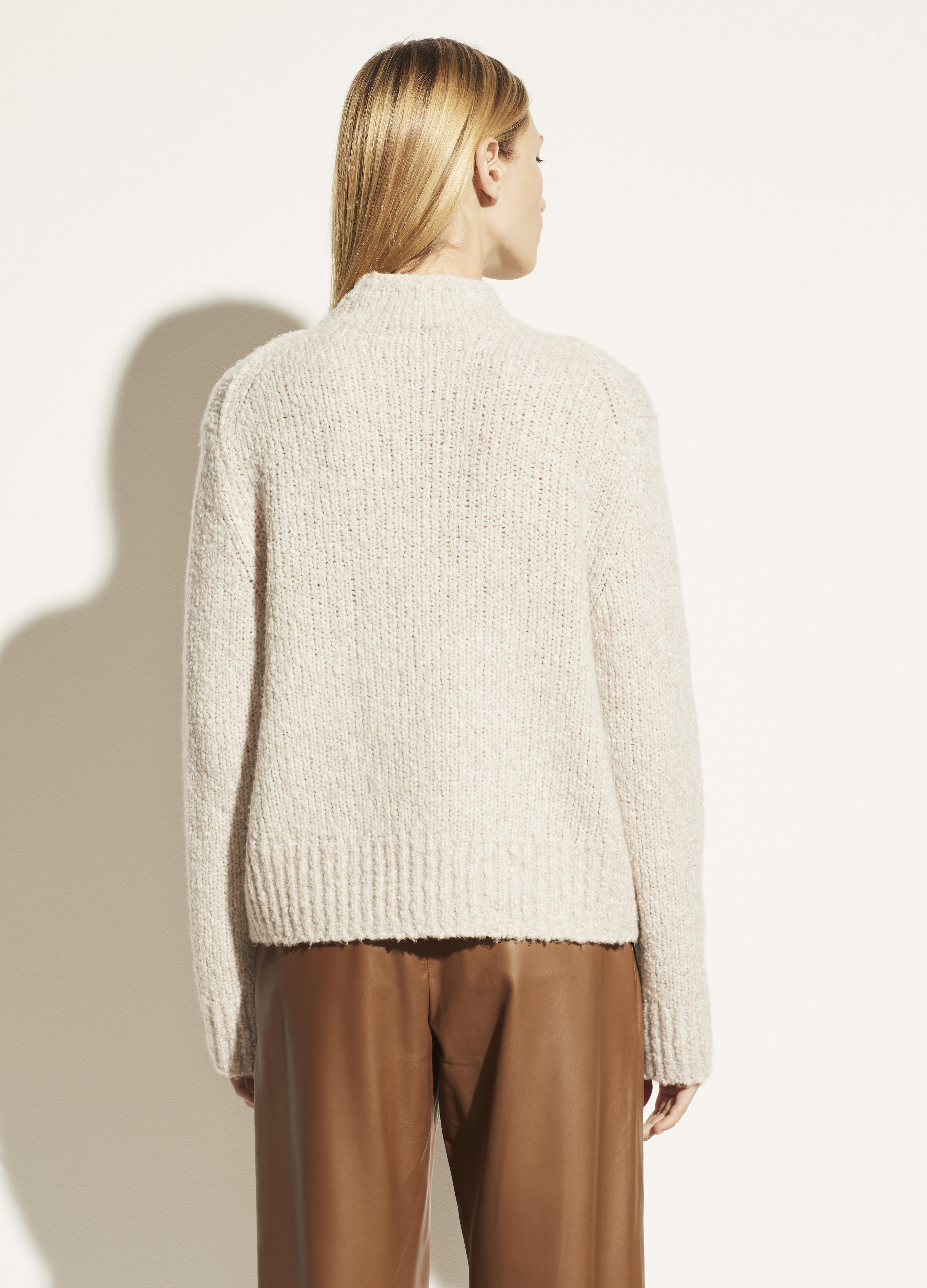 Textured Funnel Neck Pullover 1