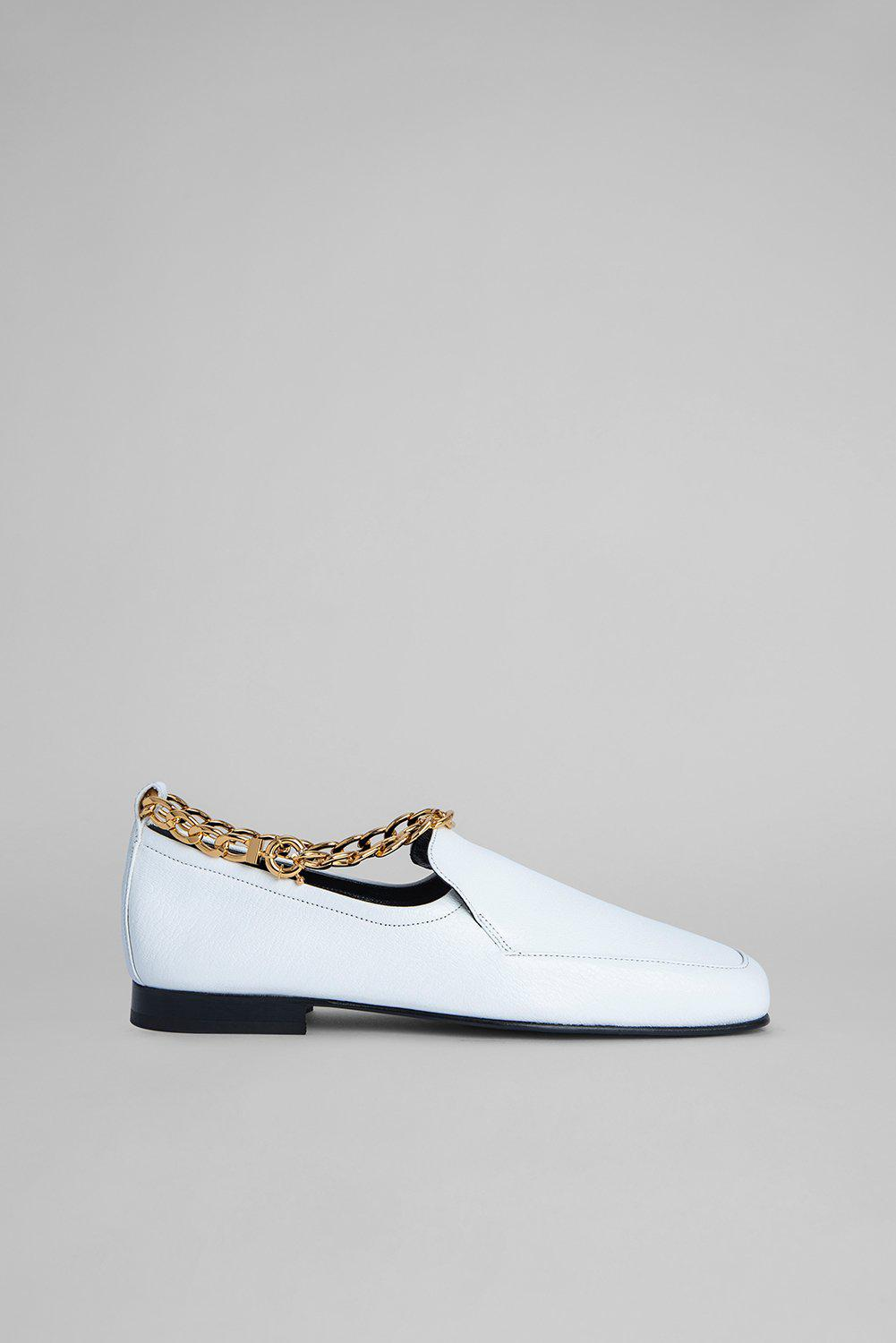 Nick White Grained Leather