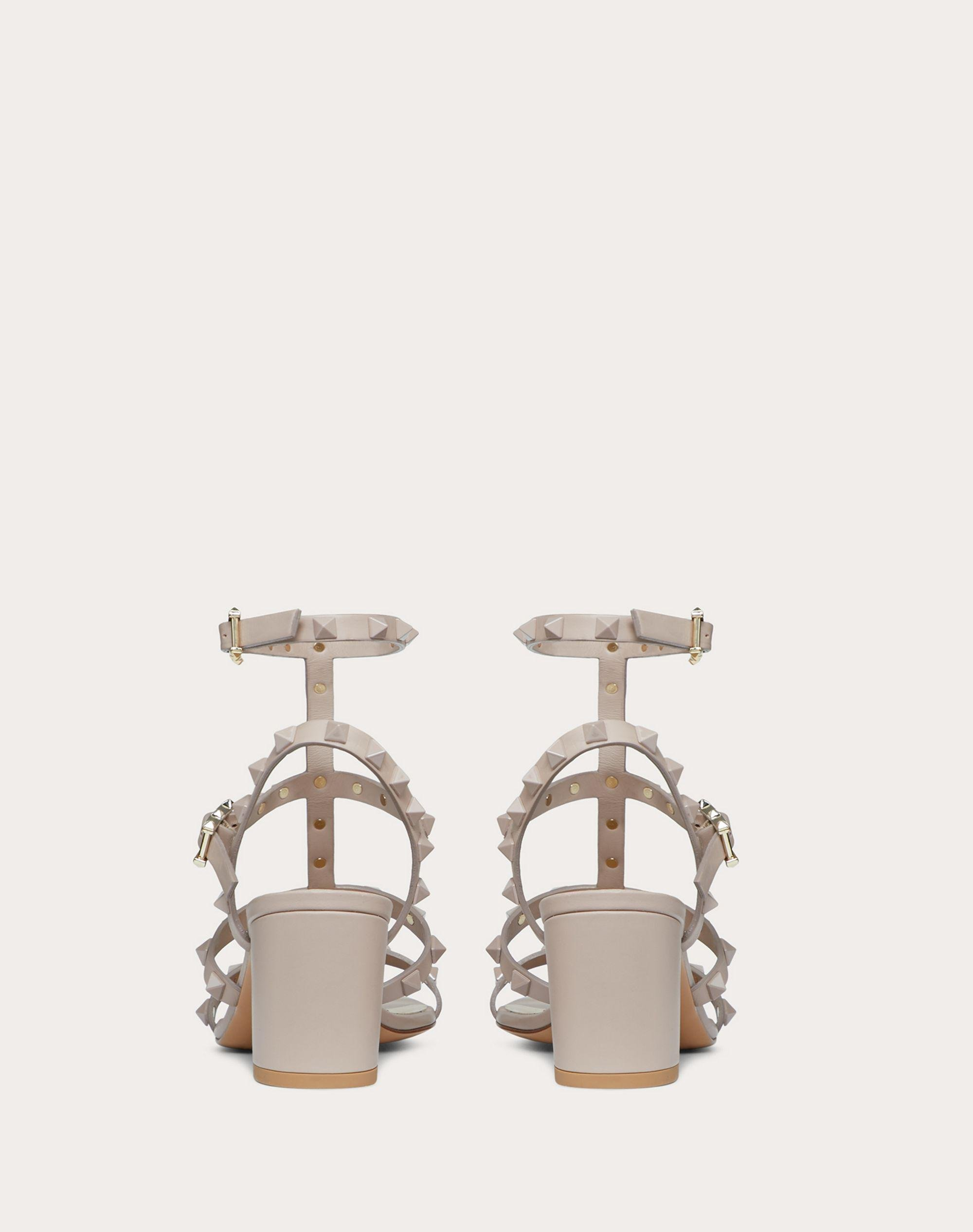 Rockstud Ankle Strap Calfskin Leather Sandal with Tonal Studs 60 mm 2