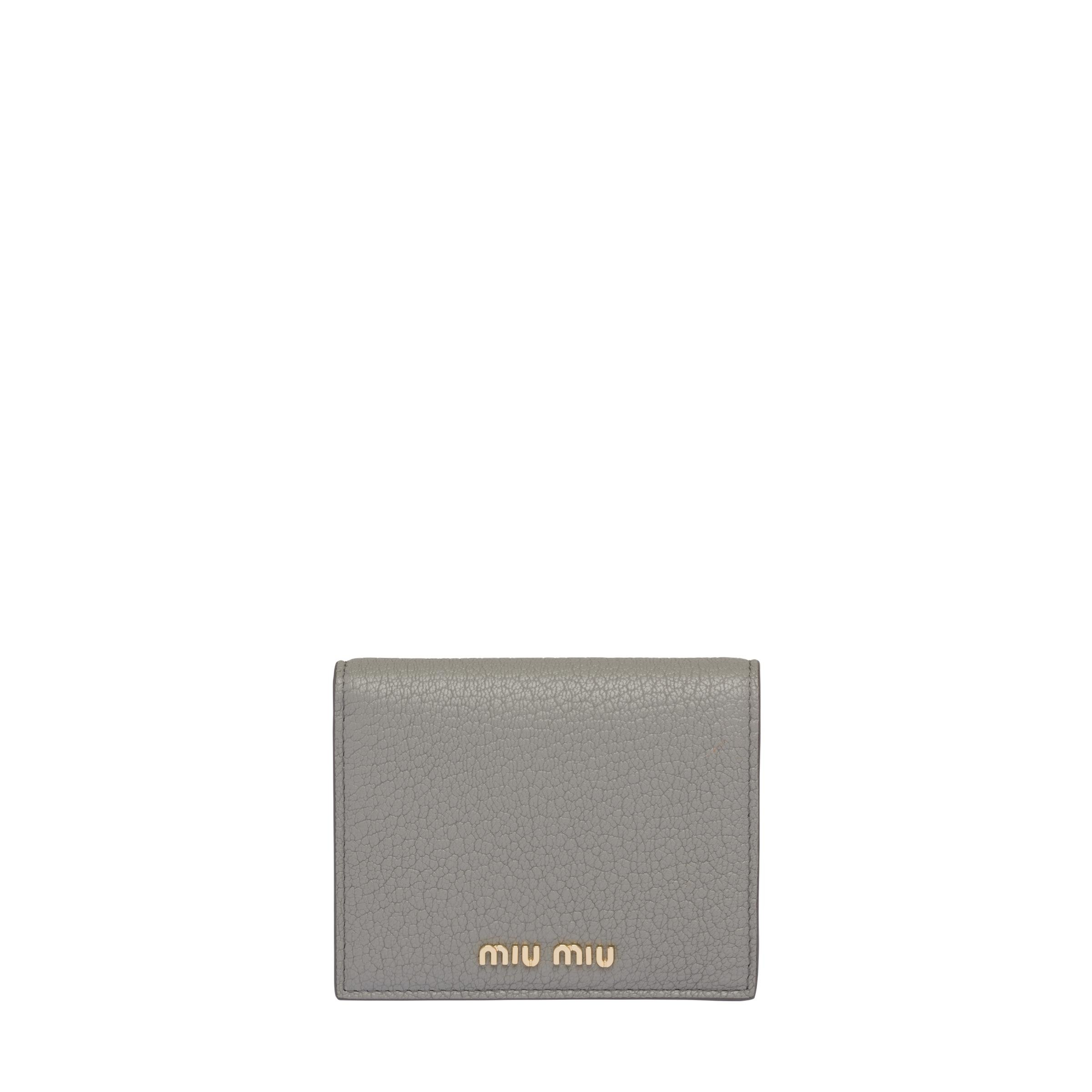 Madras Colour Leather Wallet Women Cloudy Gray/chrome