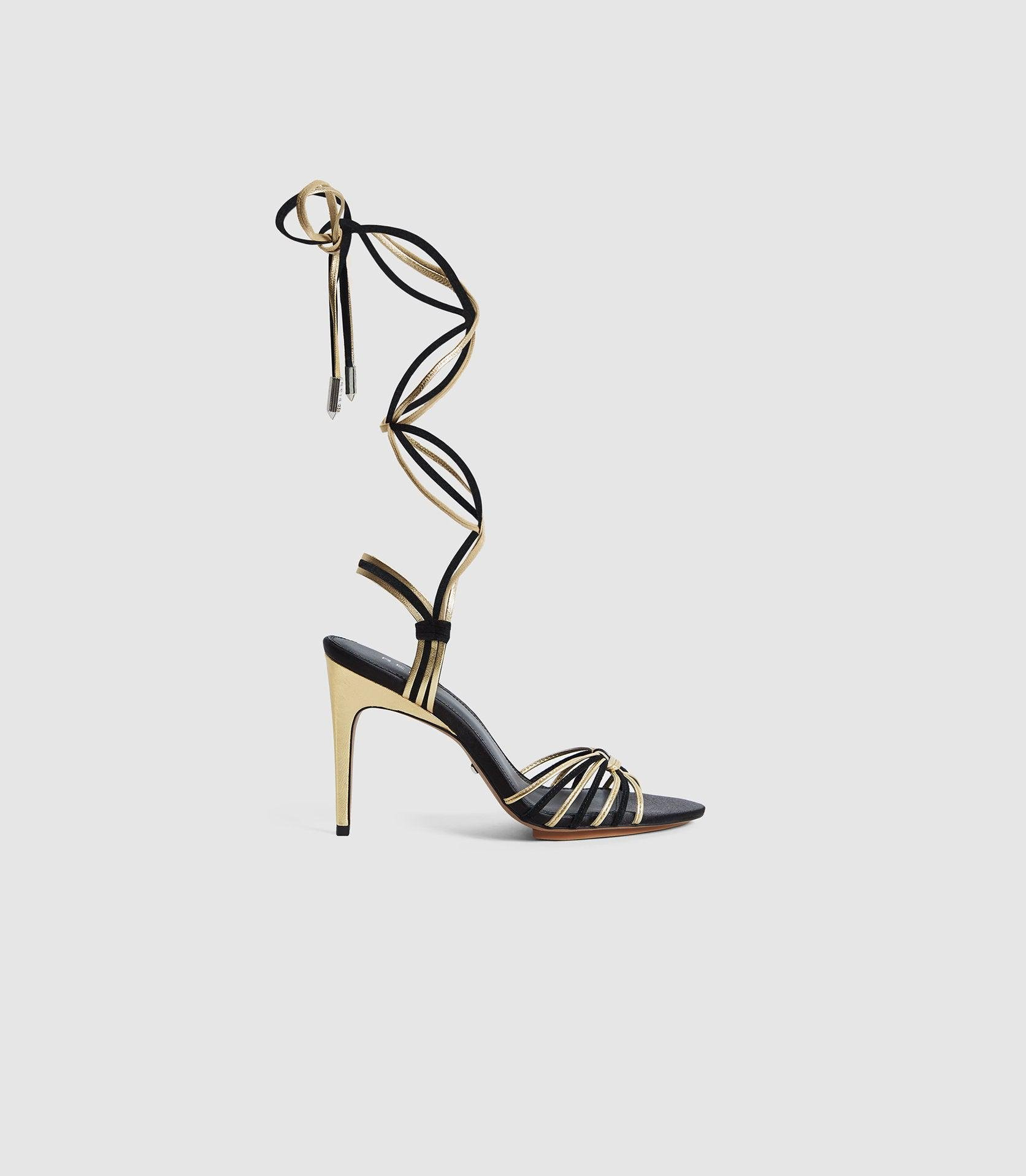 CASSIDY - STRAPPY HIGH HEELED SANDALS 0