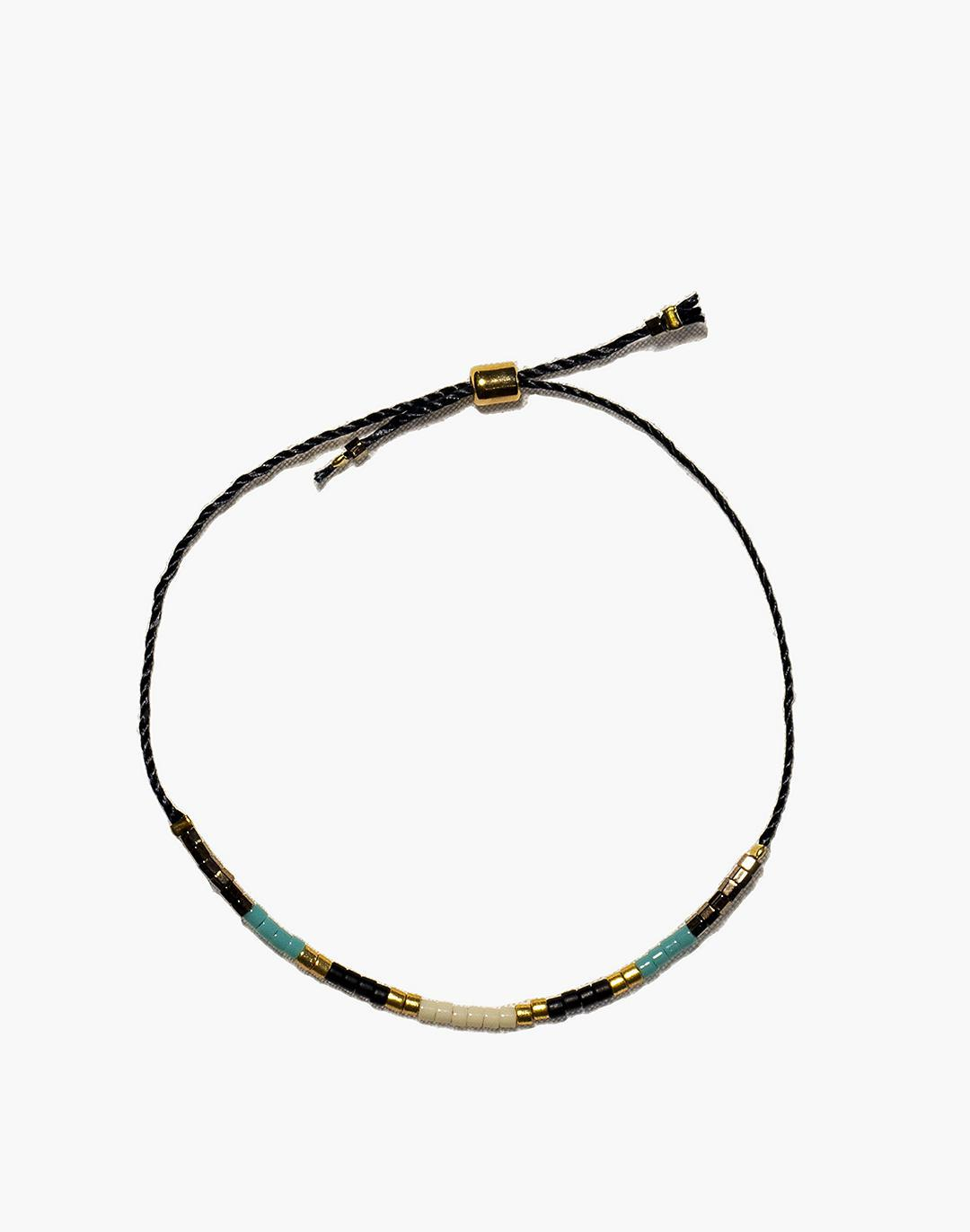 Cast of Stones Beaded Intention Bracelet in Turquoise Multicolor