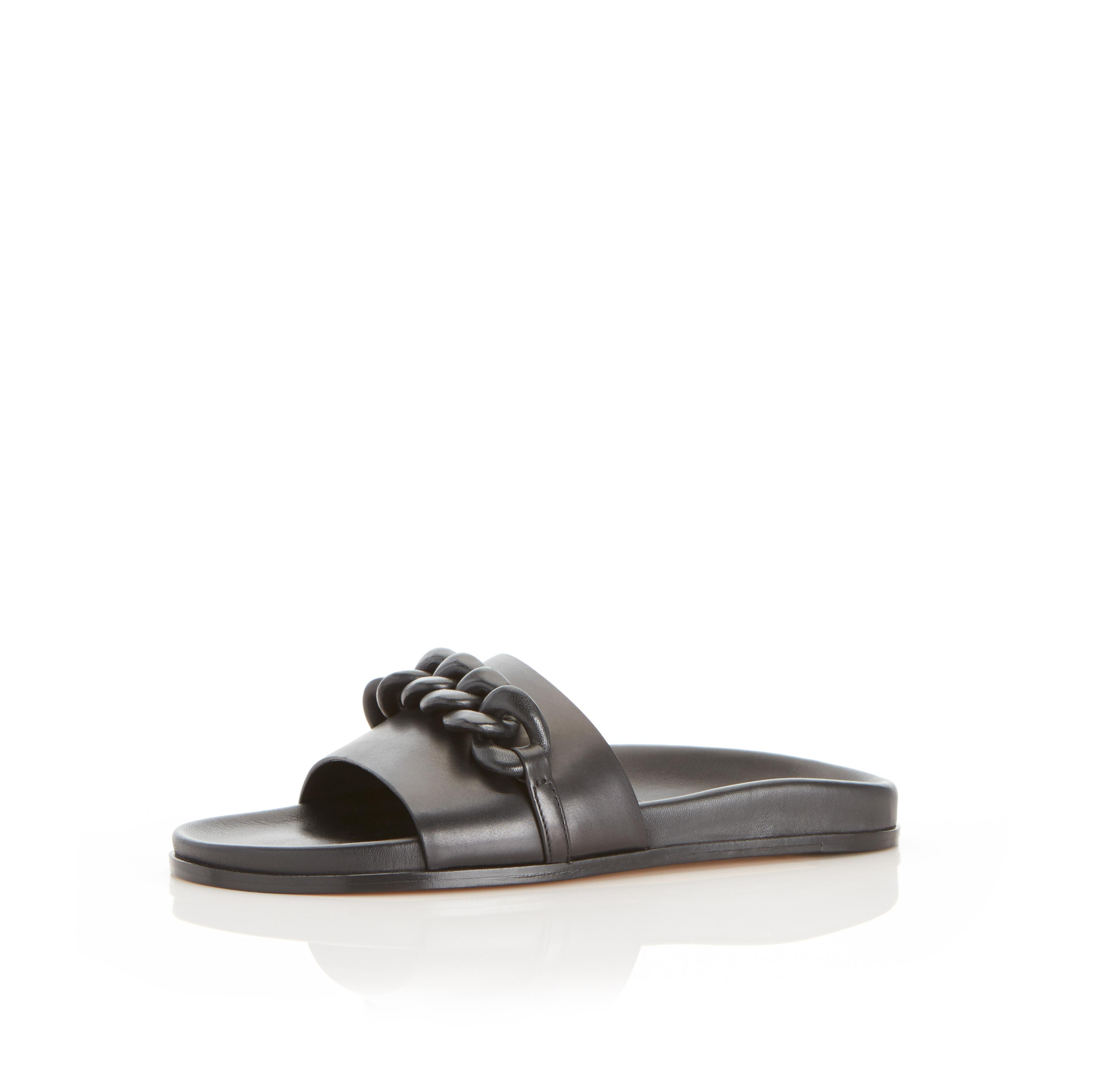Christine   Leather Chain Sandal with Contoured Footbed 1
