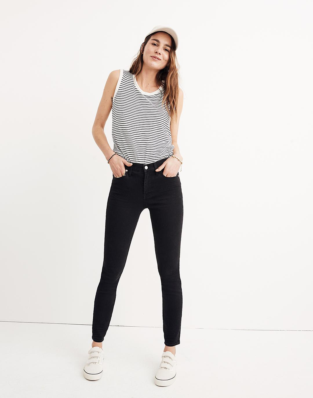 """Tall 9"""" Mid-Rise Skinny Jeans in Lunar Wash"""