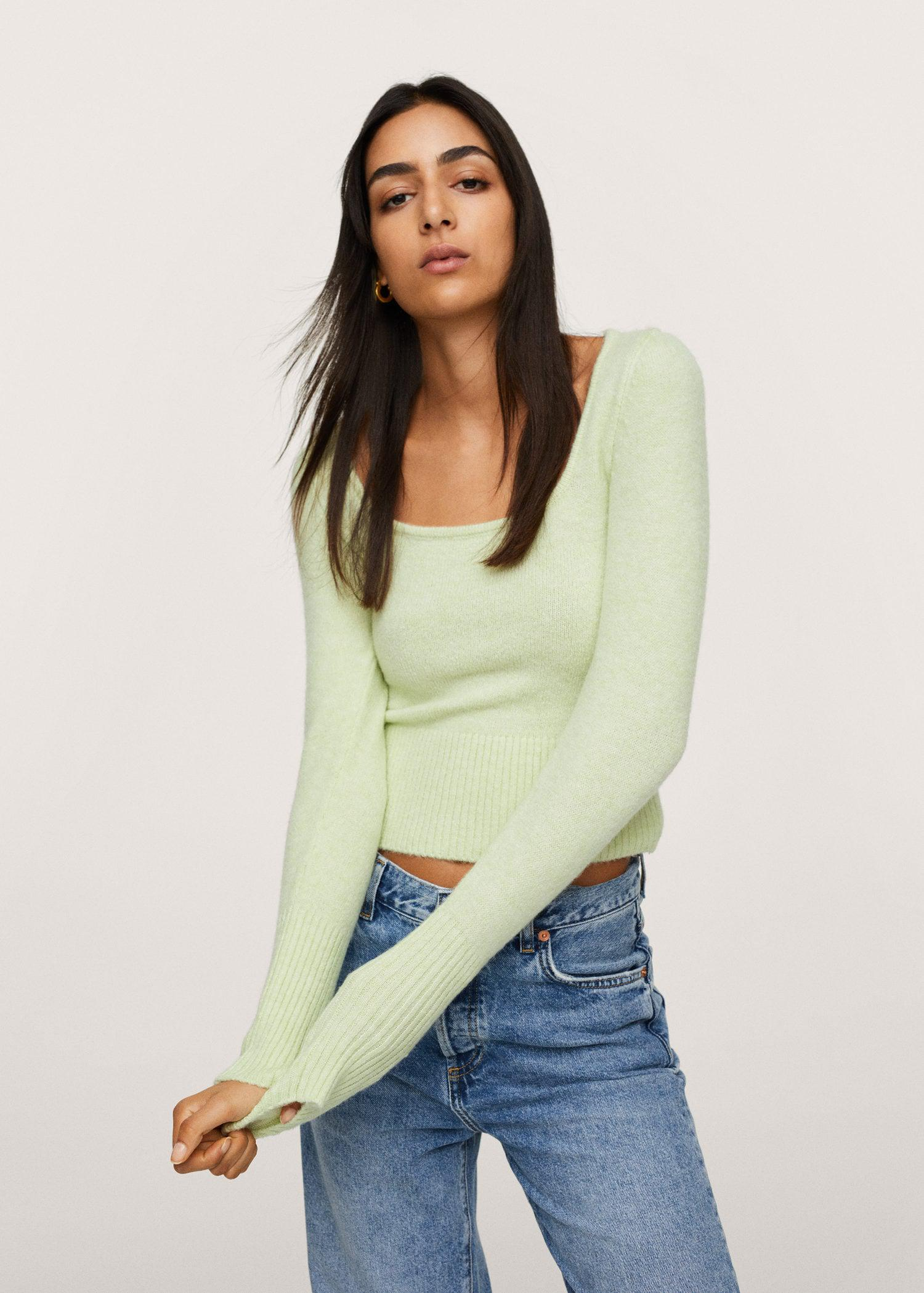Textured knit sweater