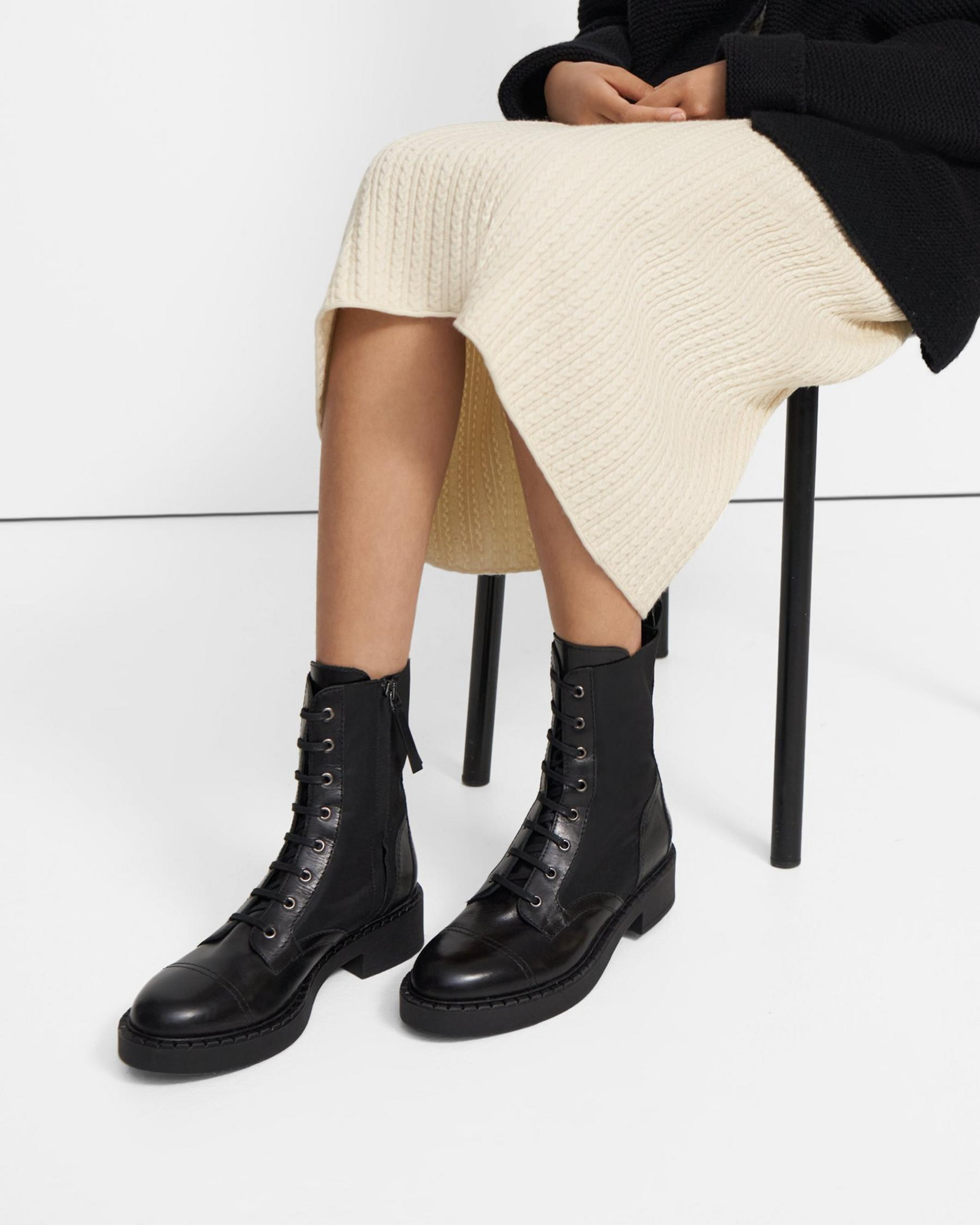 Laced Boot in Nylon