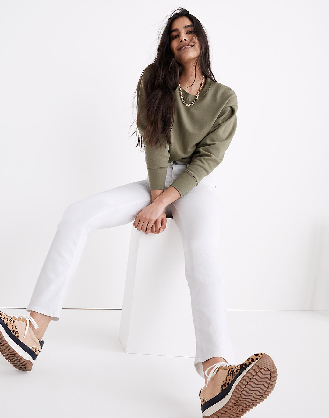 Tall Cali Demi-Boot Jeans in Pure White 1