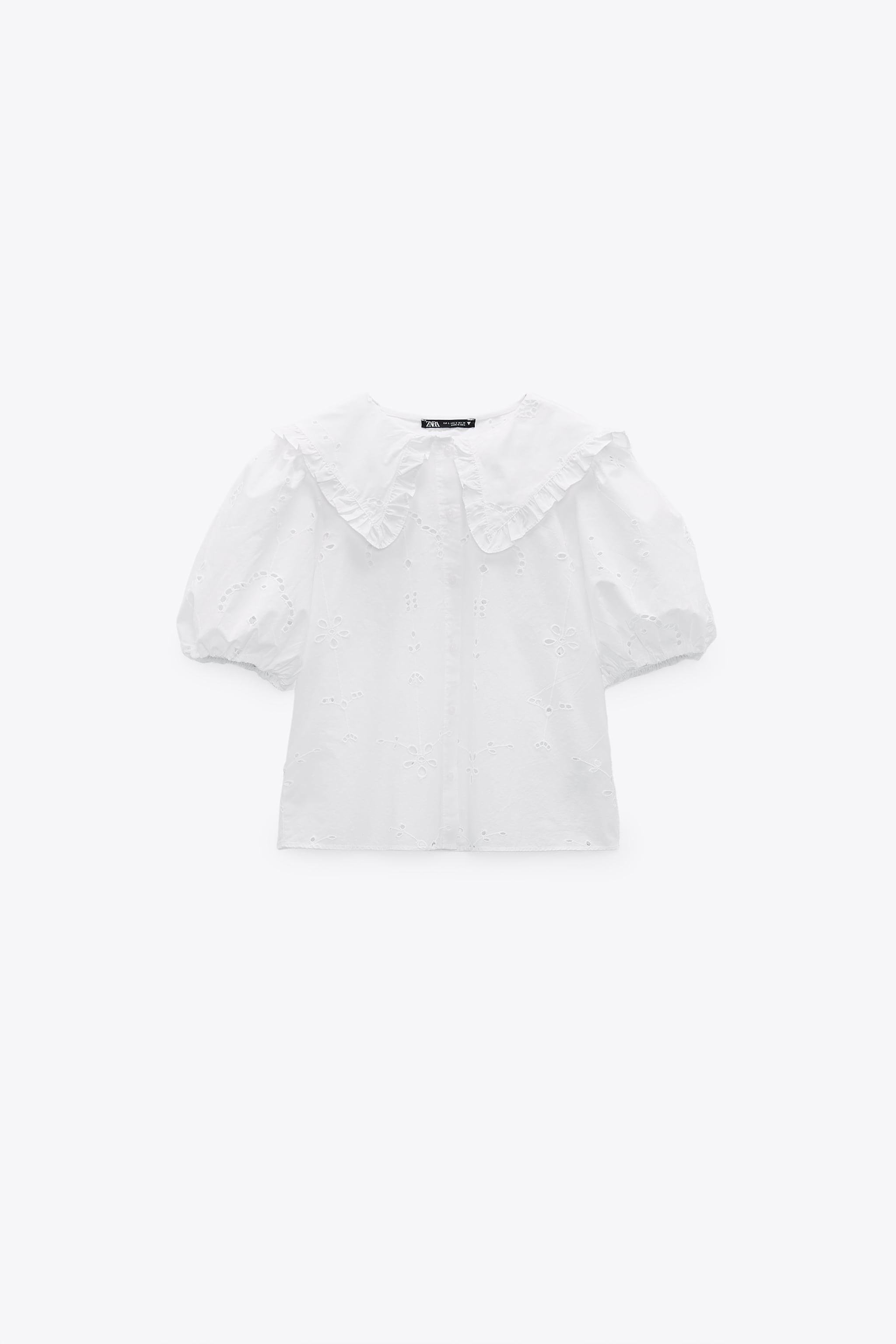 POPLIN TOP WITH EYELET EMBROIDERY 5