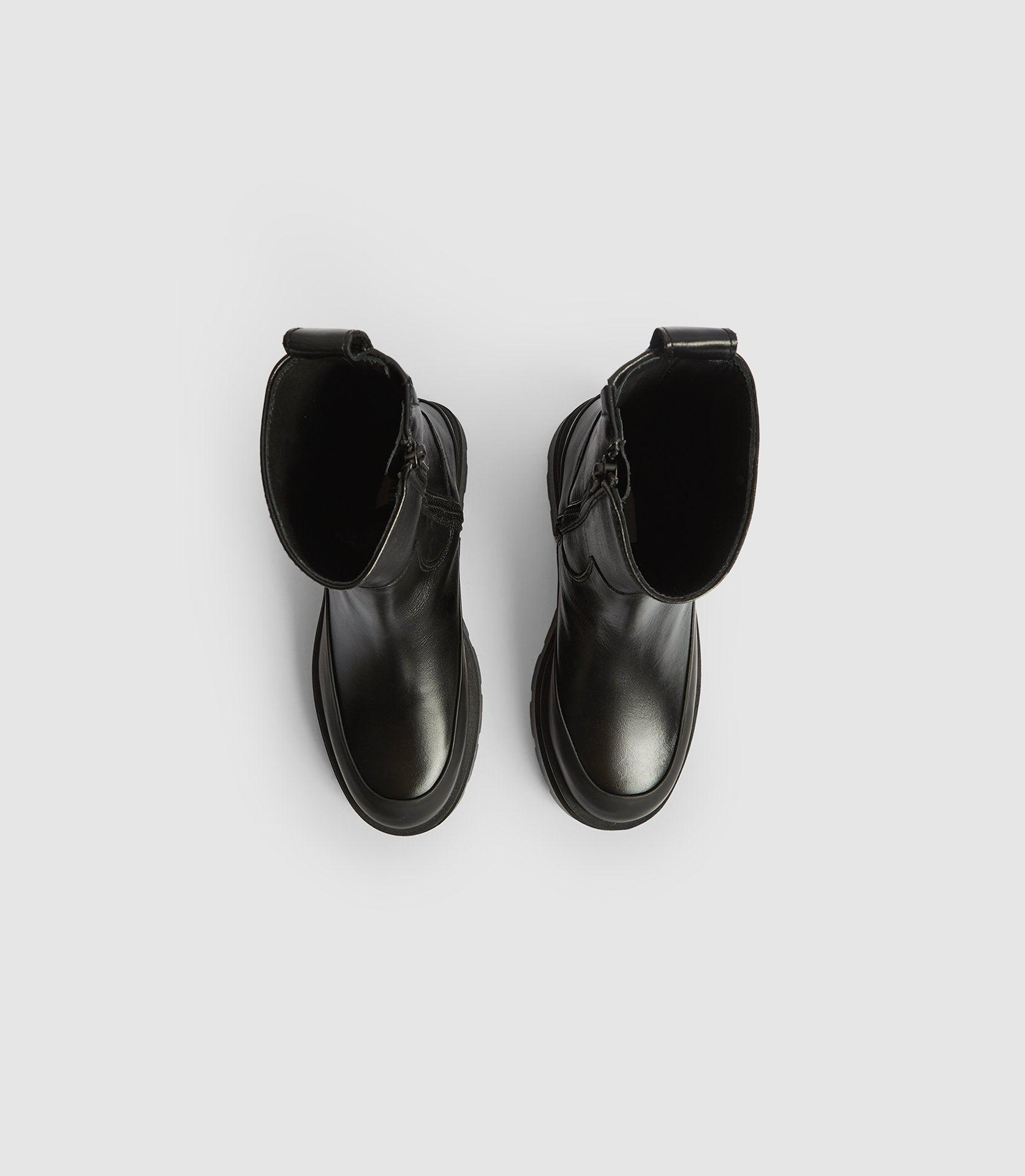 AVE - LEATHER STOMPER BOOTS 1