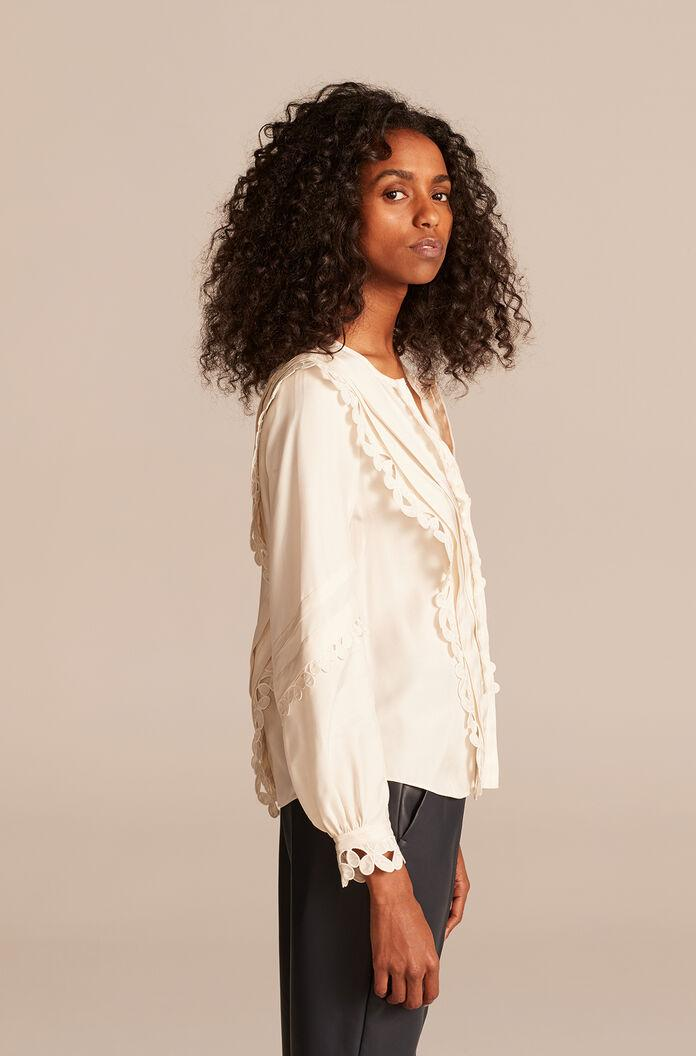 EMBROIDERED SILK TOP 1