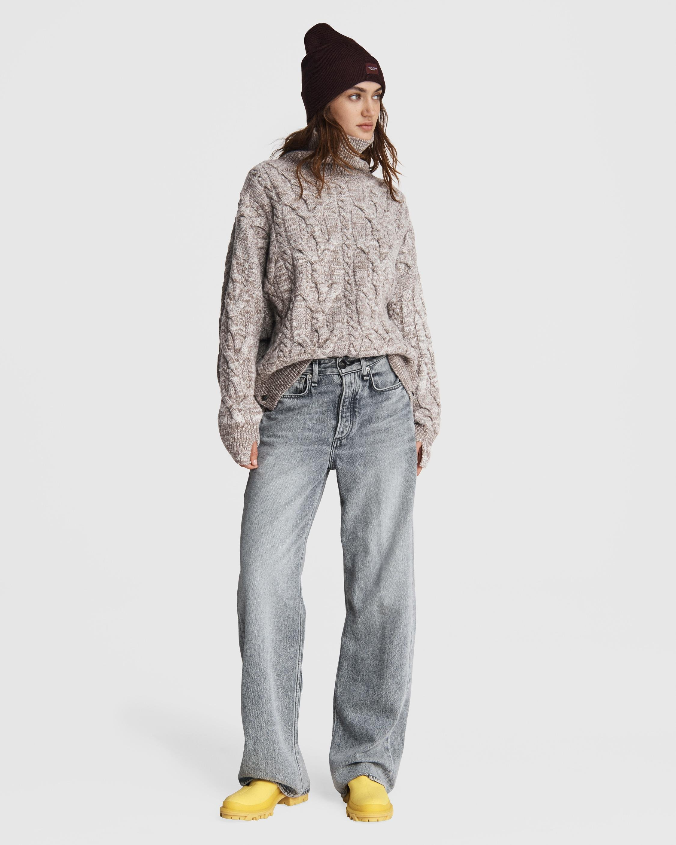 Nora cable wool turtleneck 1