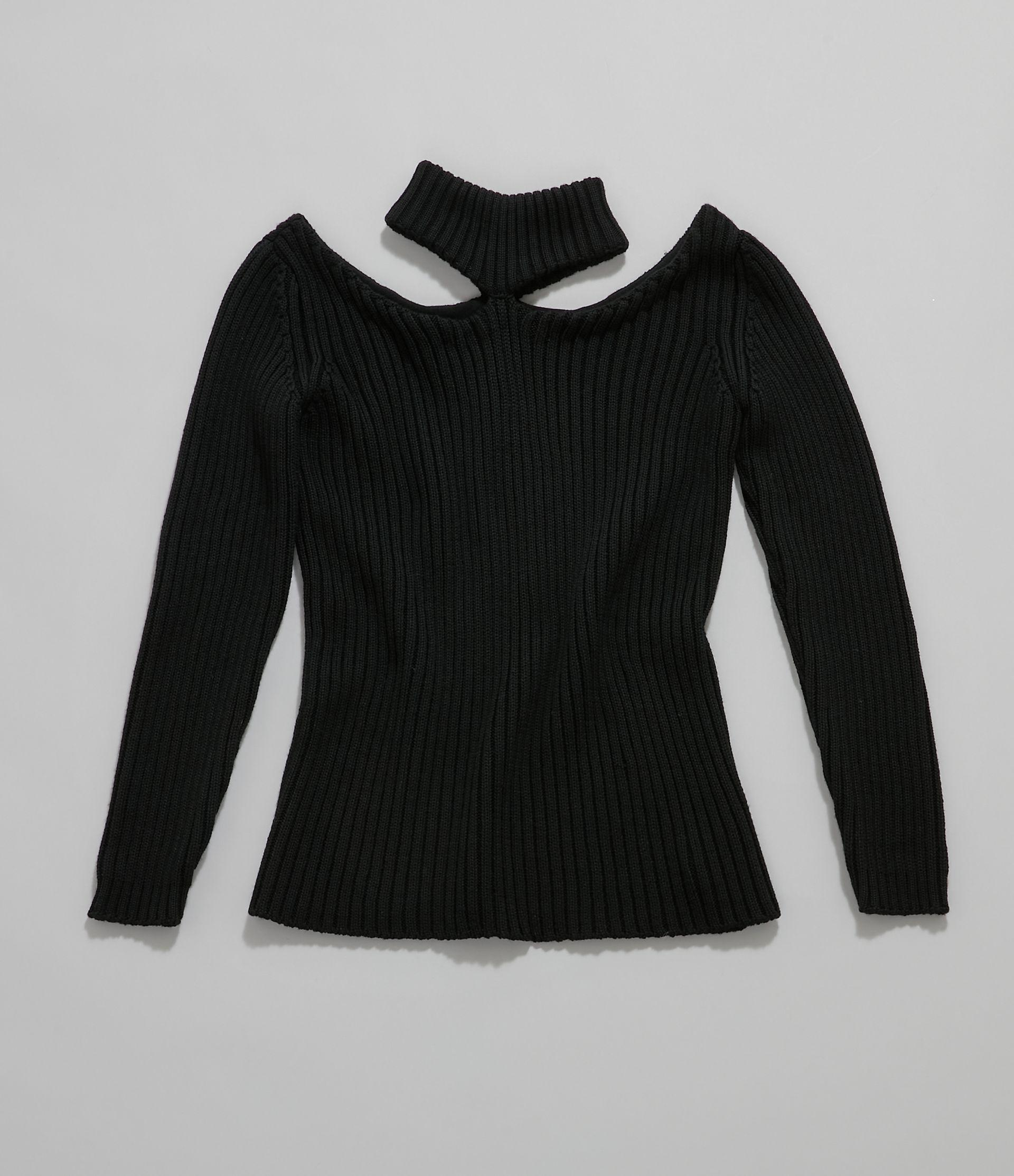 cut-out shoulder knitted sweater 4