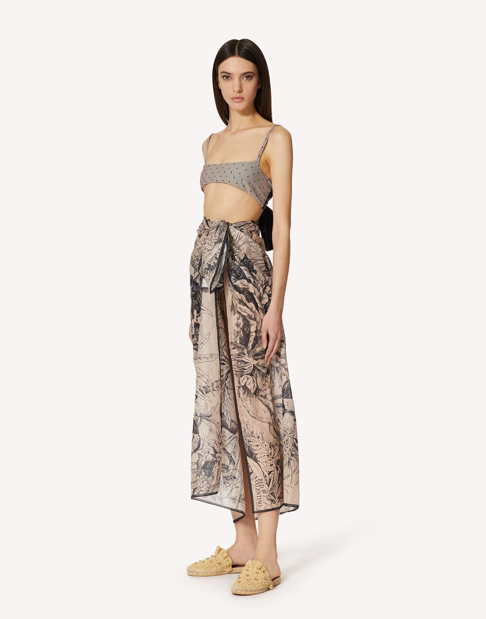 COTTON VOILE SARONG WITH JUNGLE TOILE PRINT
