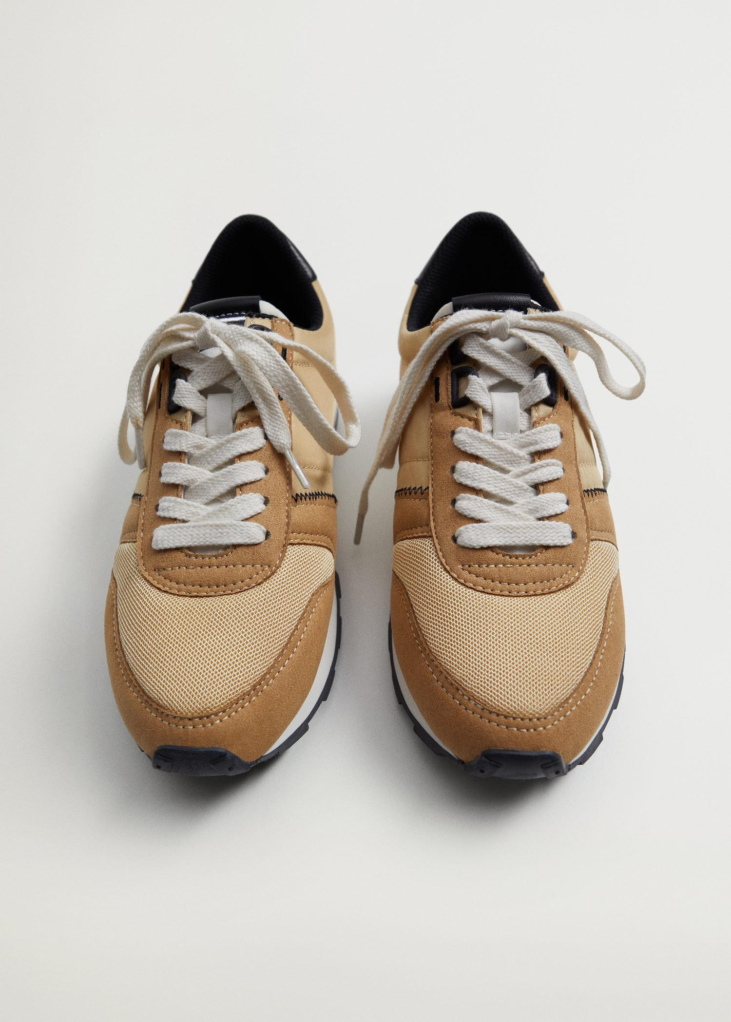 Platform lace-up sneakers