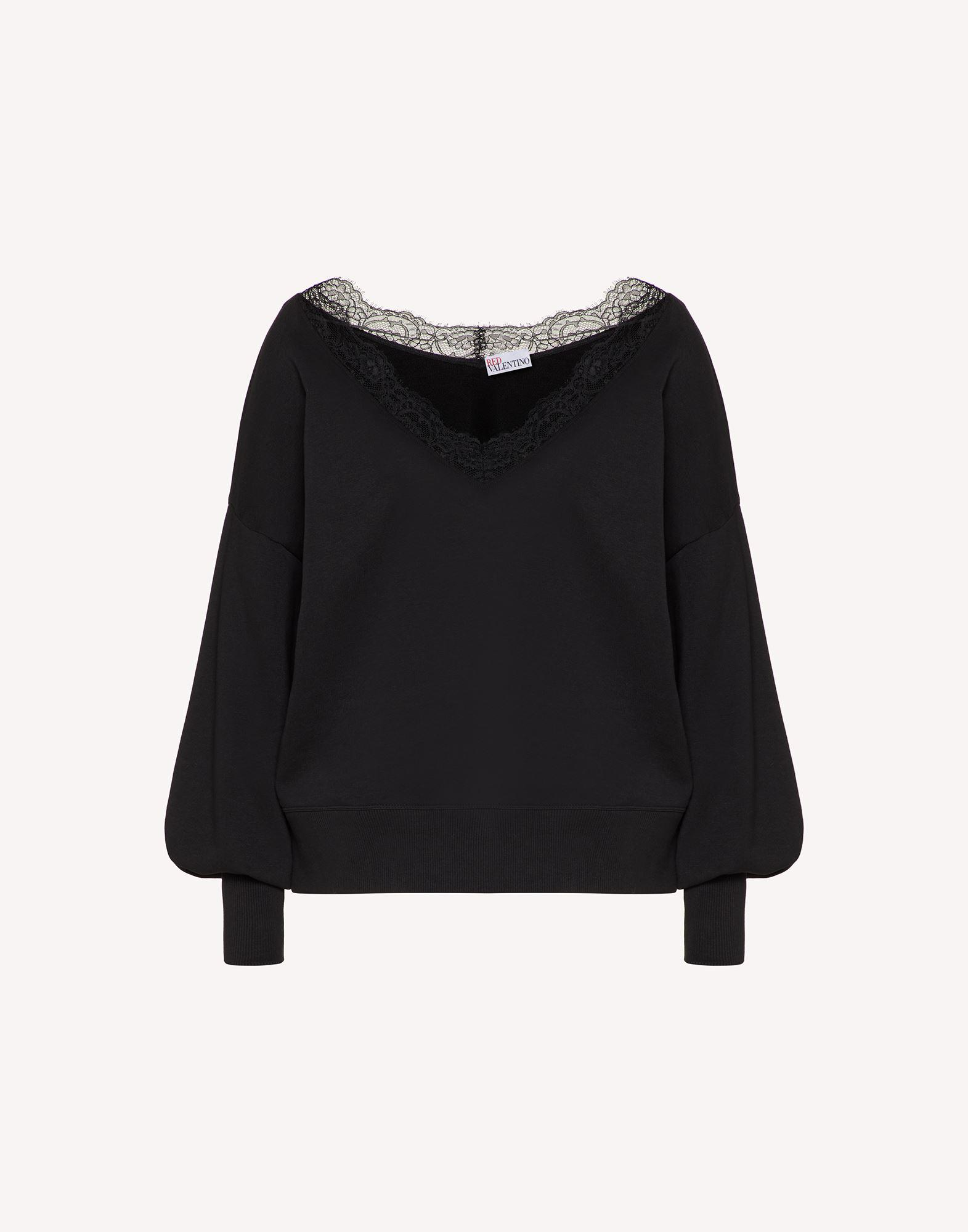 SWEATSHIRT WITH LACE RIBBONS 4