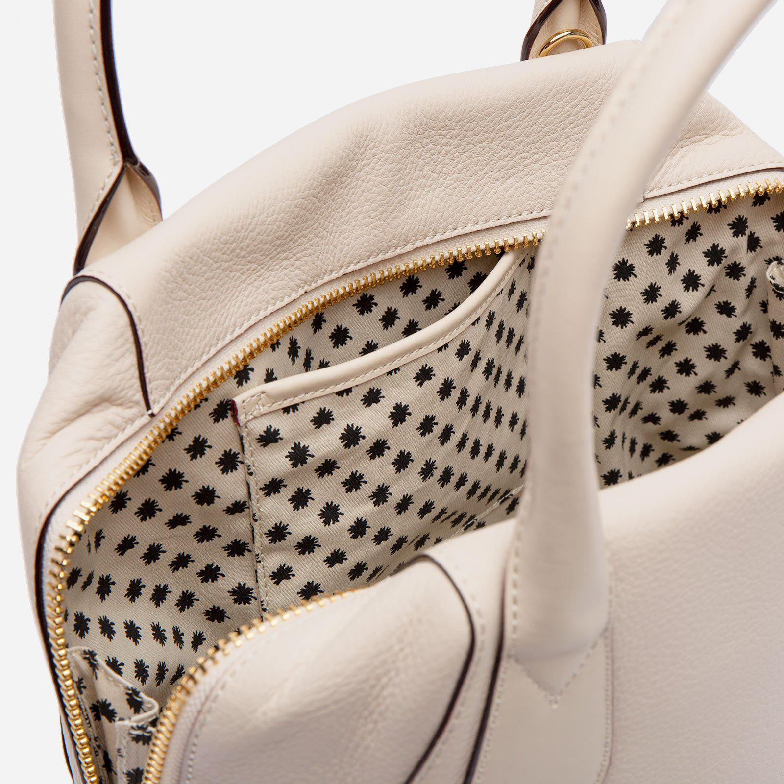 Abby Tote Tumbled Leather Oyster 3