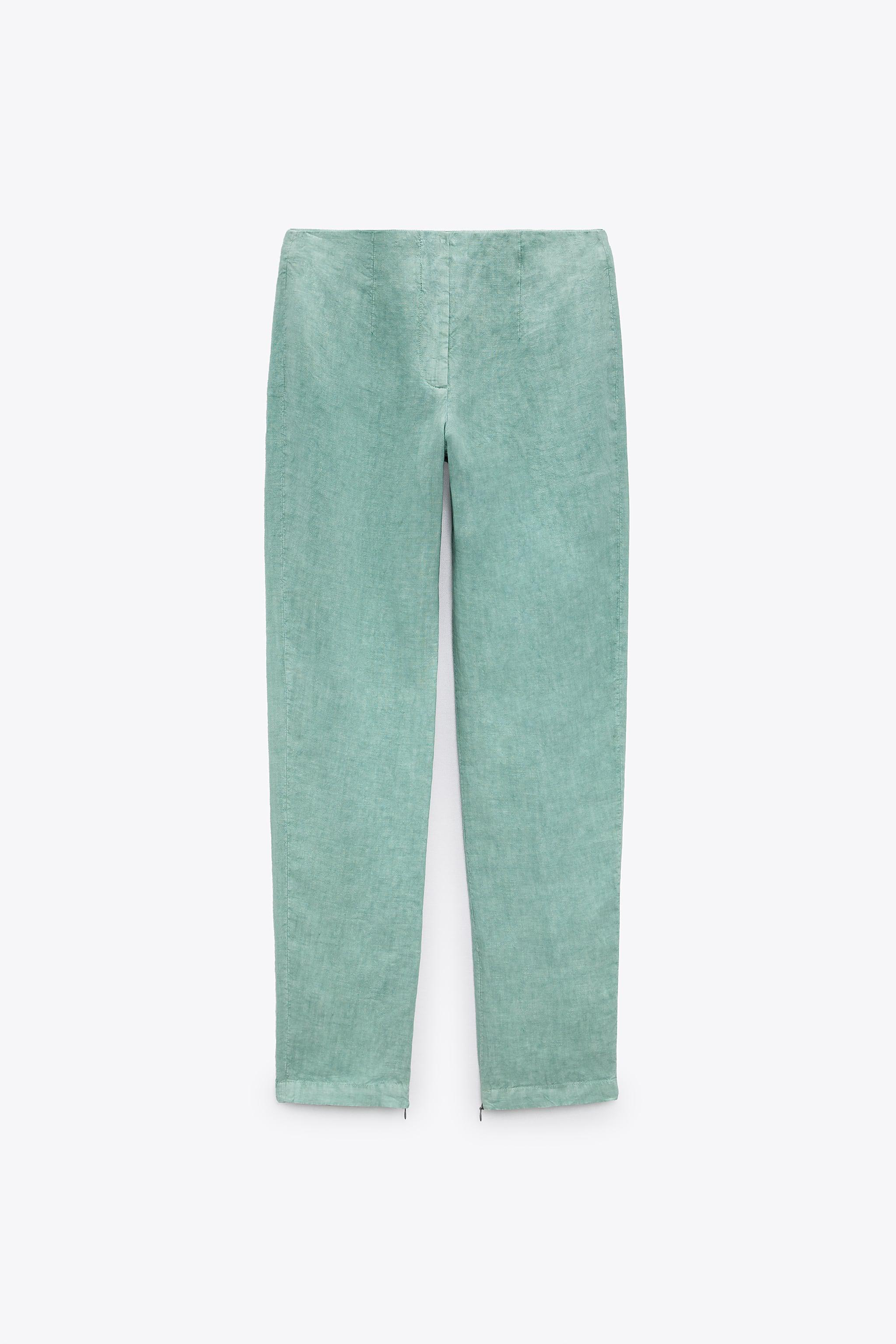 LIMITED EDITION LINEN PANTS WITH SLITS