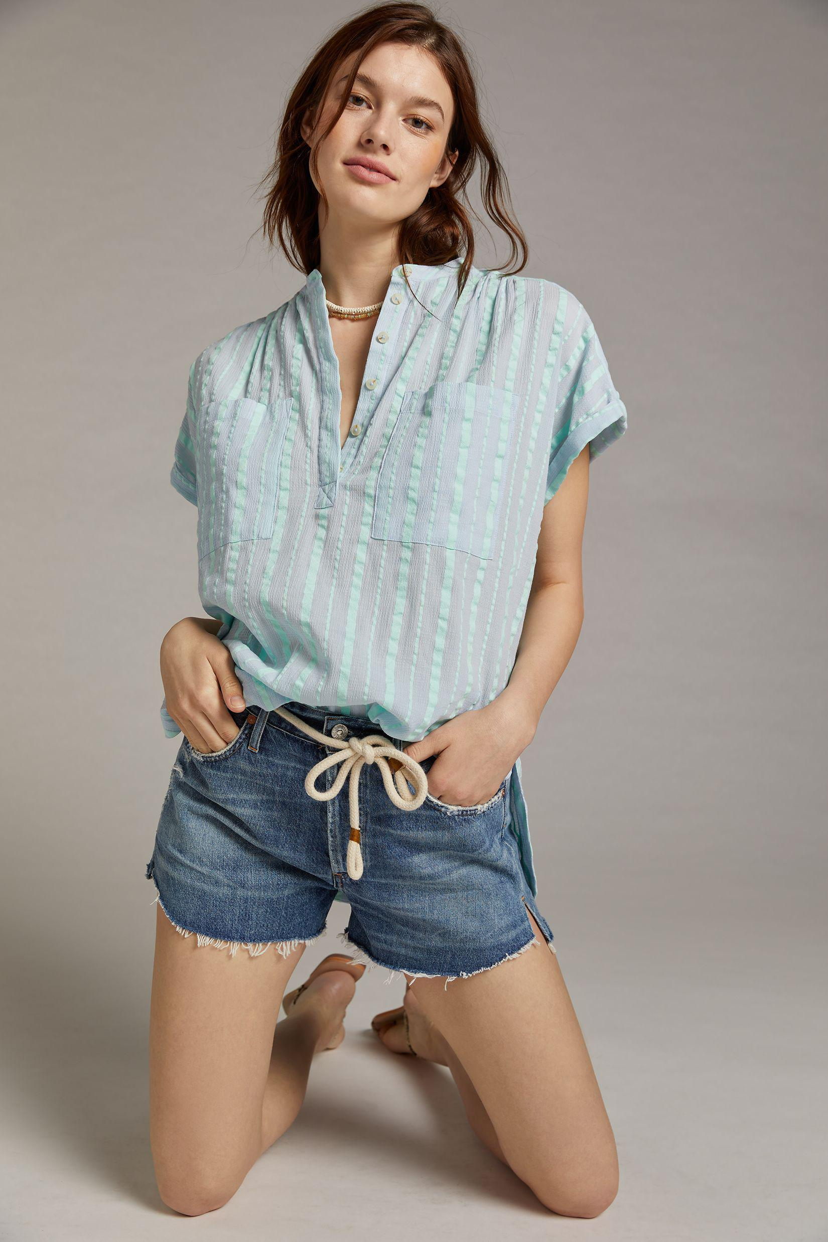 Maeve Textured Blouse