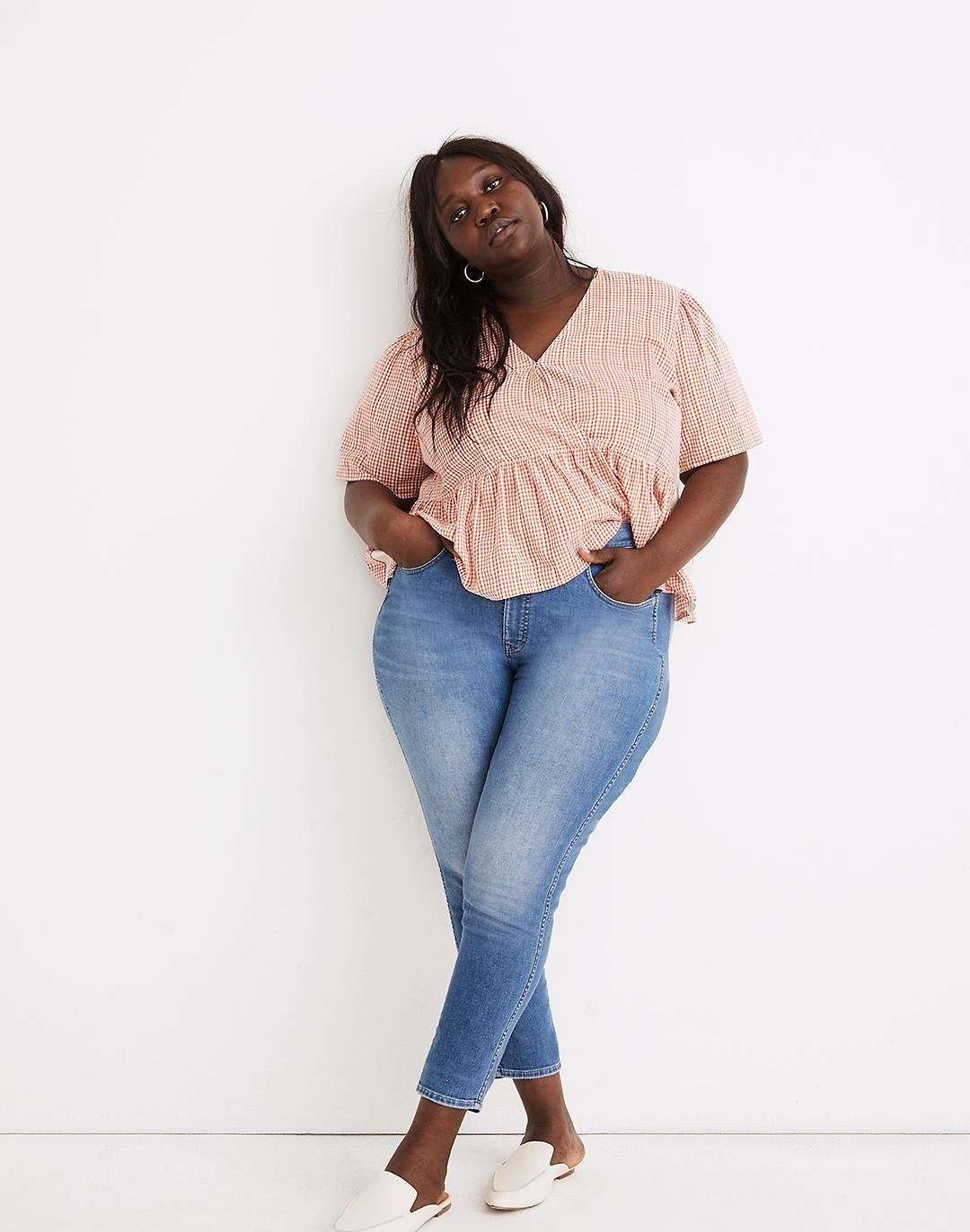 """Plus 10"""" High-Rise Skinny Crop Jeans in Welling Wash: Summerweight Edition"""
