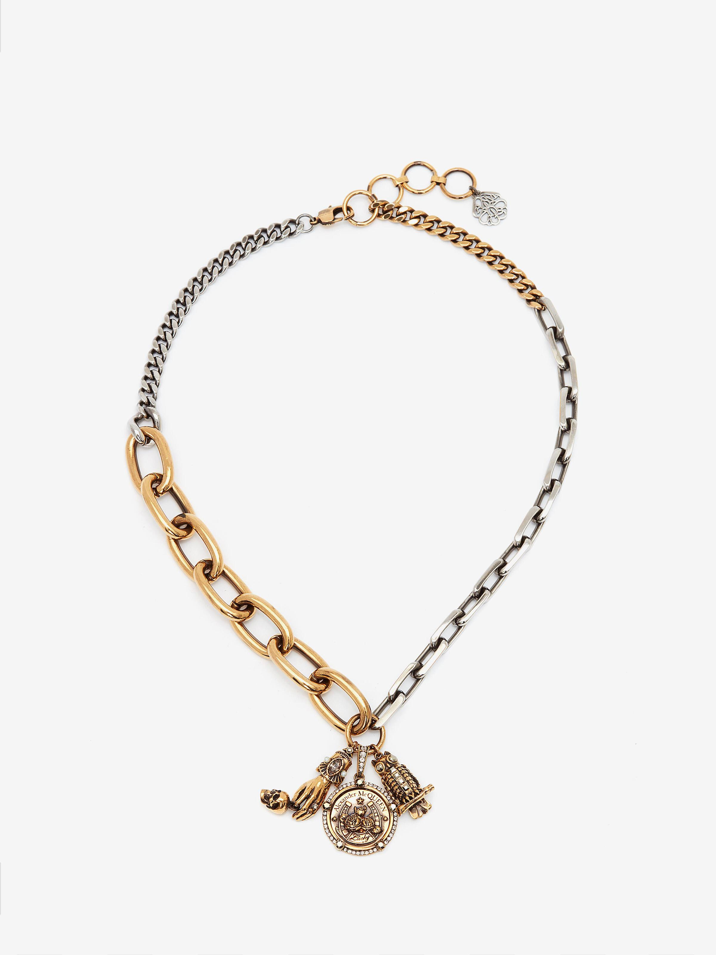 Long Chain Charm Necklace