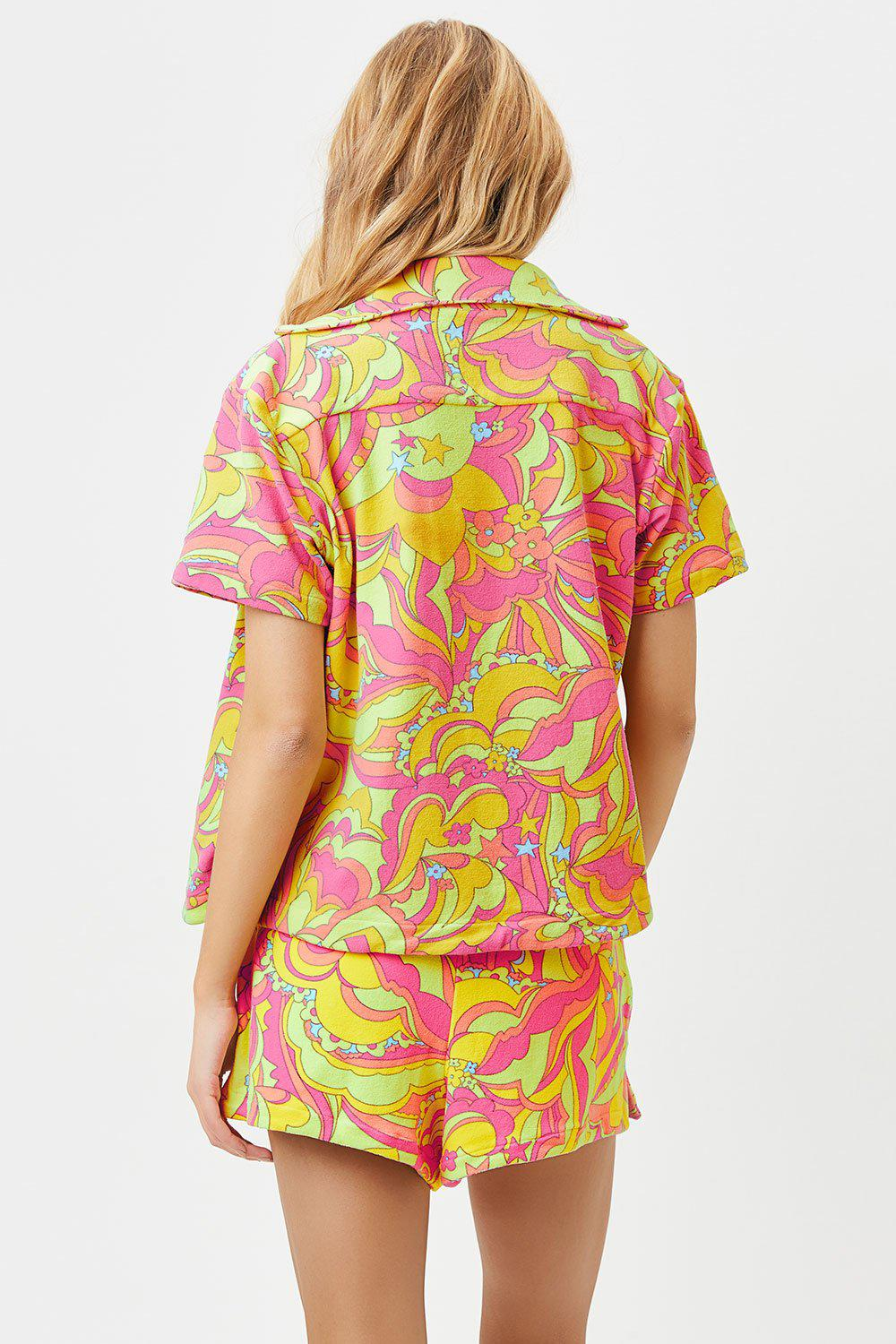 Coco Terry Button Up Shirt - Peace Terry 2