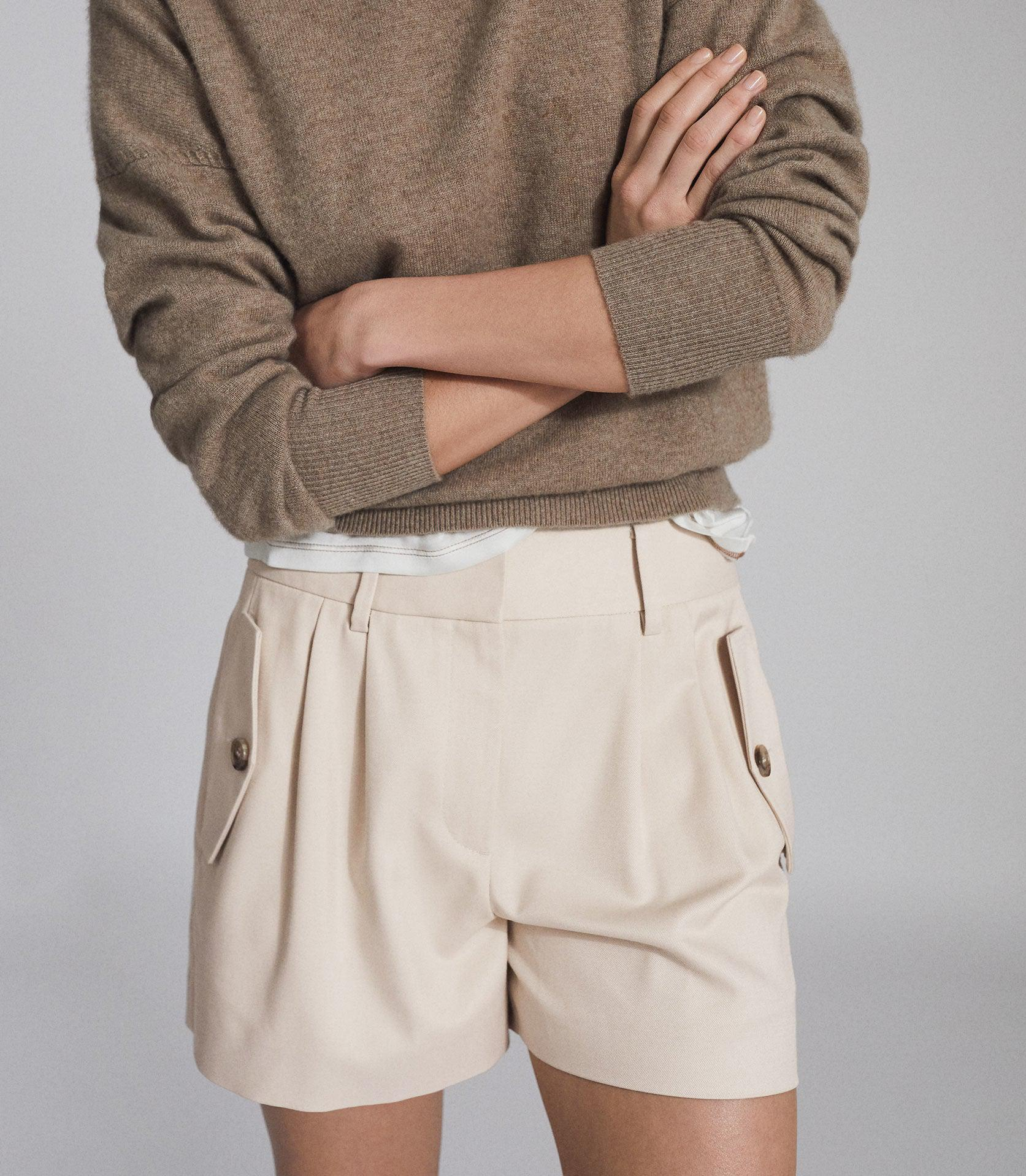 BROOKLYN - POCKET FRONT TAILORED SHORTS 4