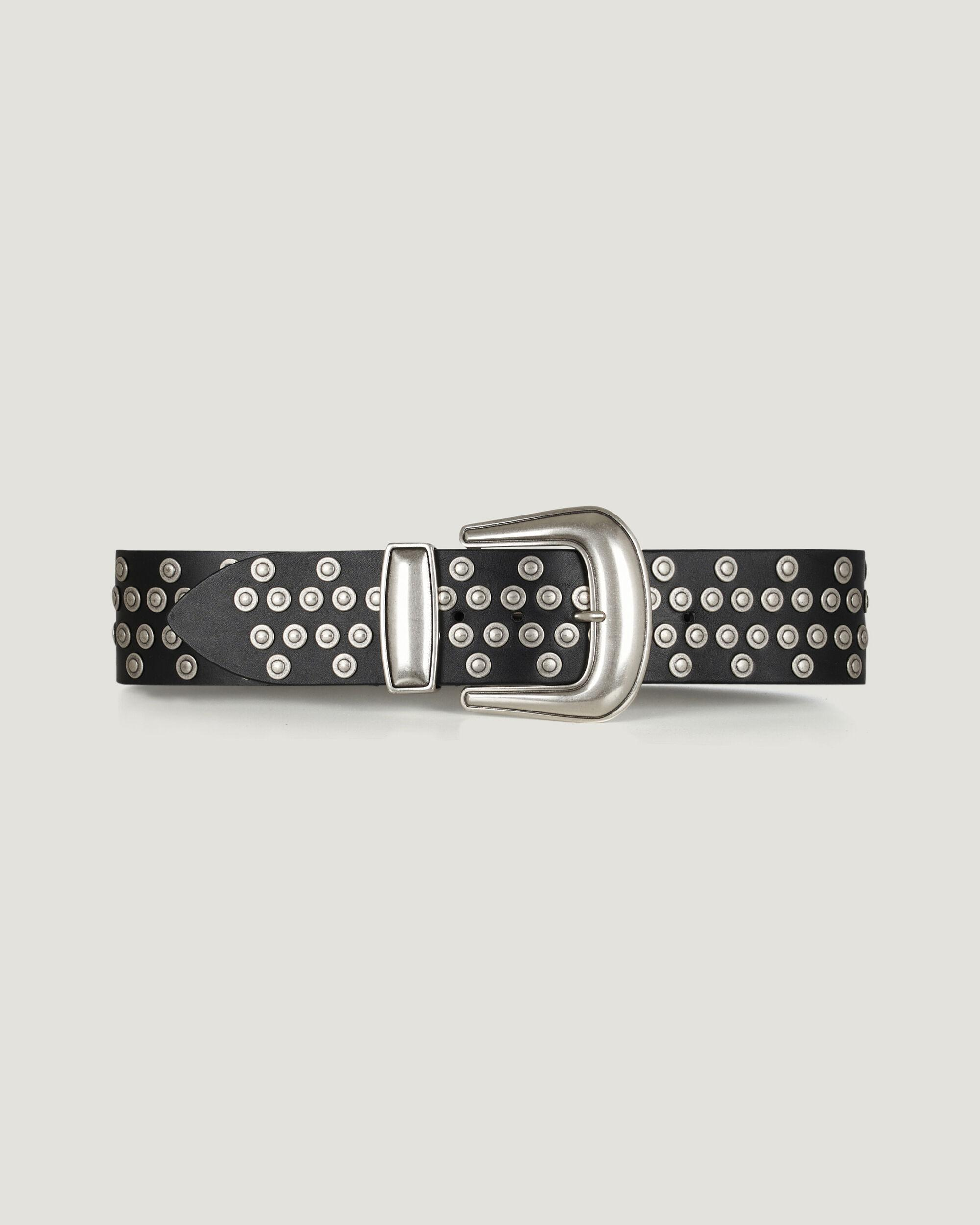 REOL ROUND STUDDED LEATHER BELT