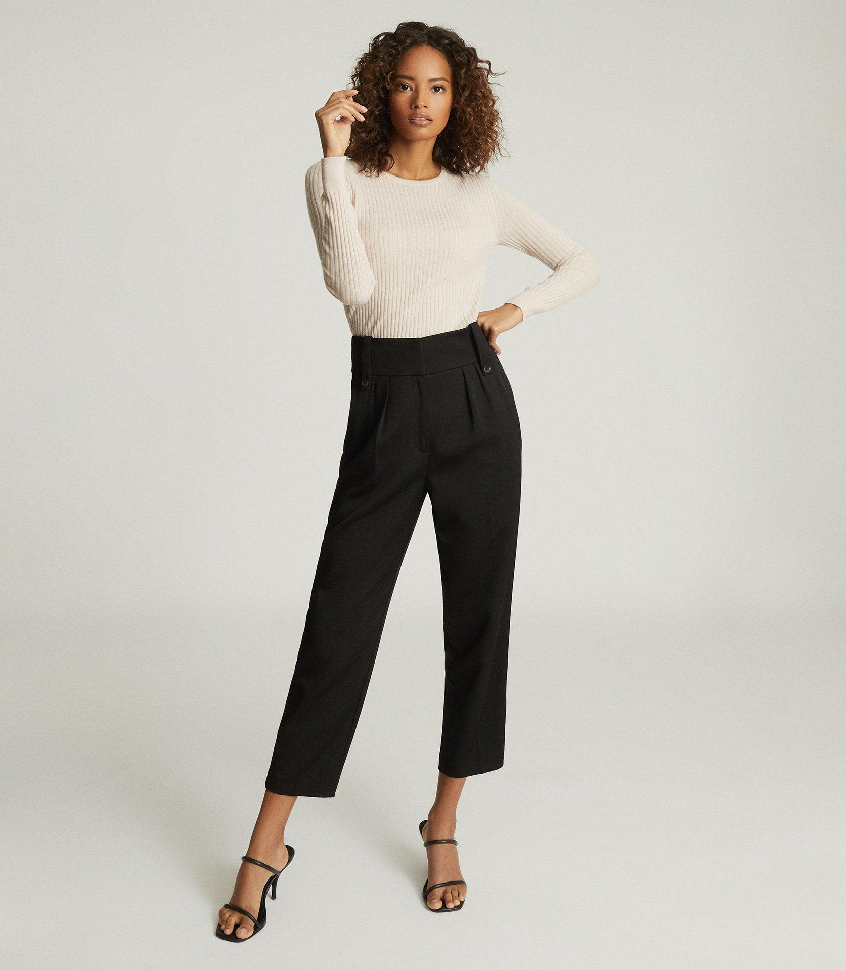 LENNOX TROUSER - HIGH WAISTED CROPPED TROUSERS