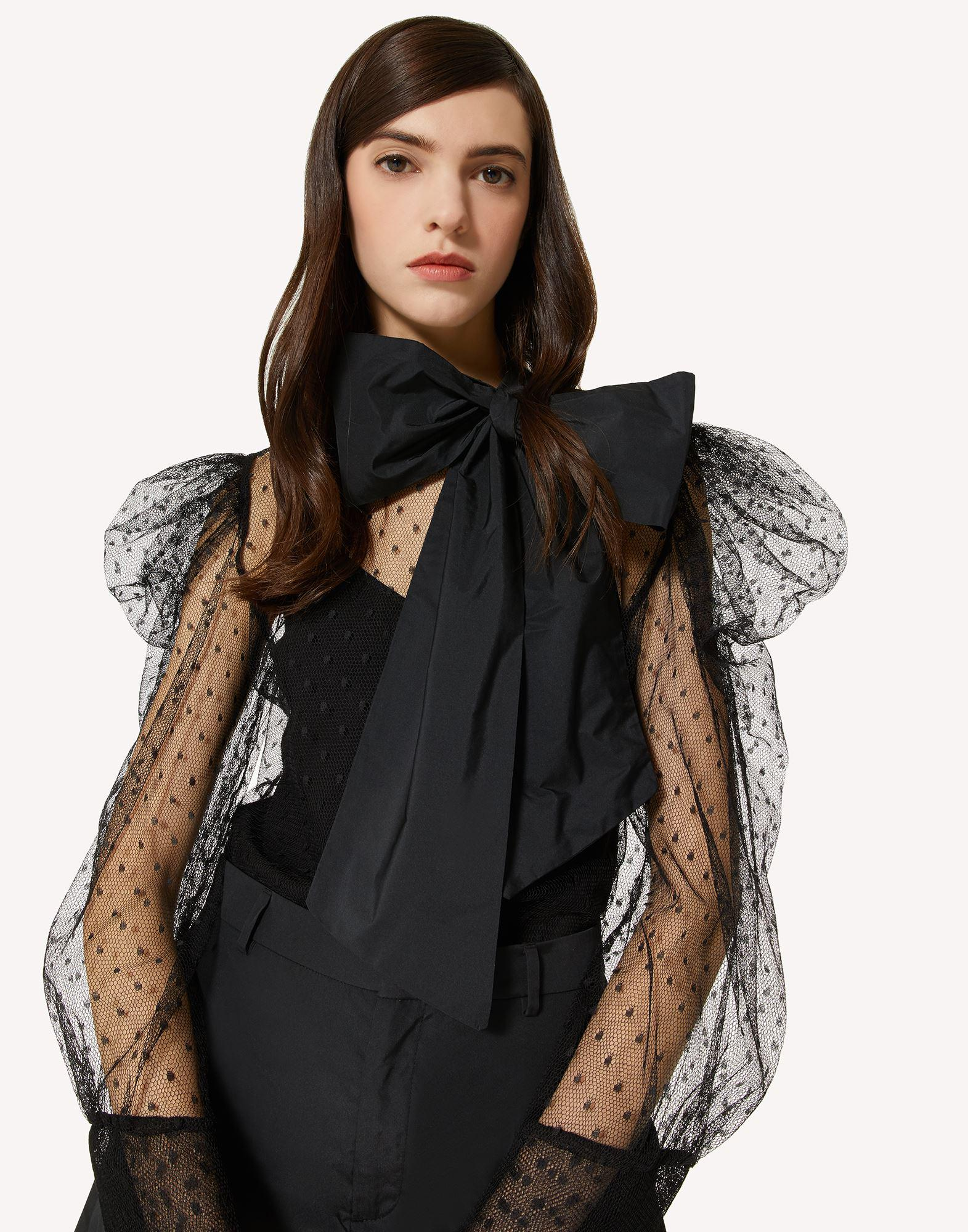 THE BLACK TAG. - POINT D'ESPRIT TULLE AND TAFFETA TOP 3