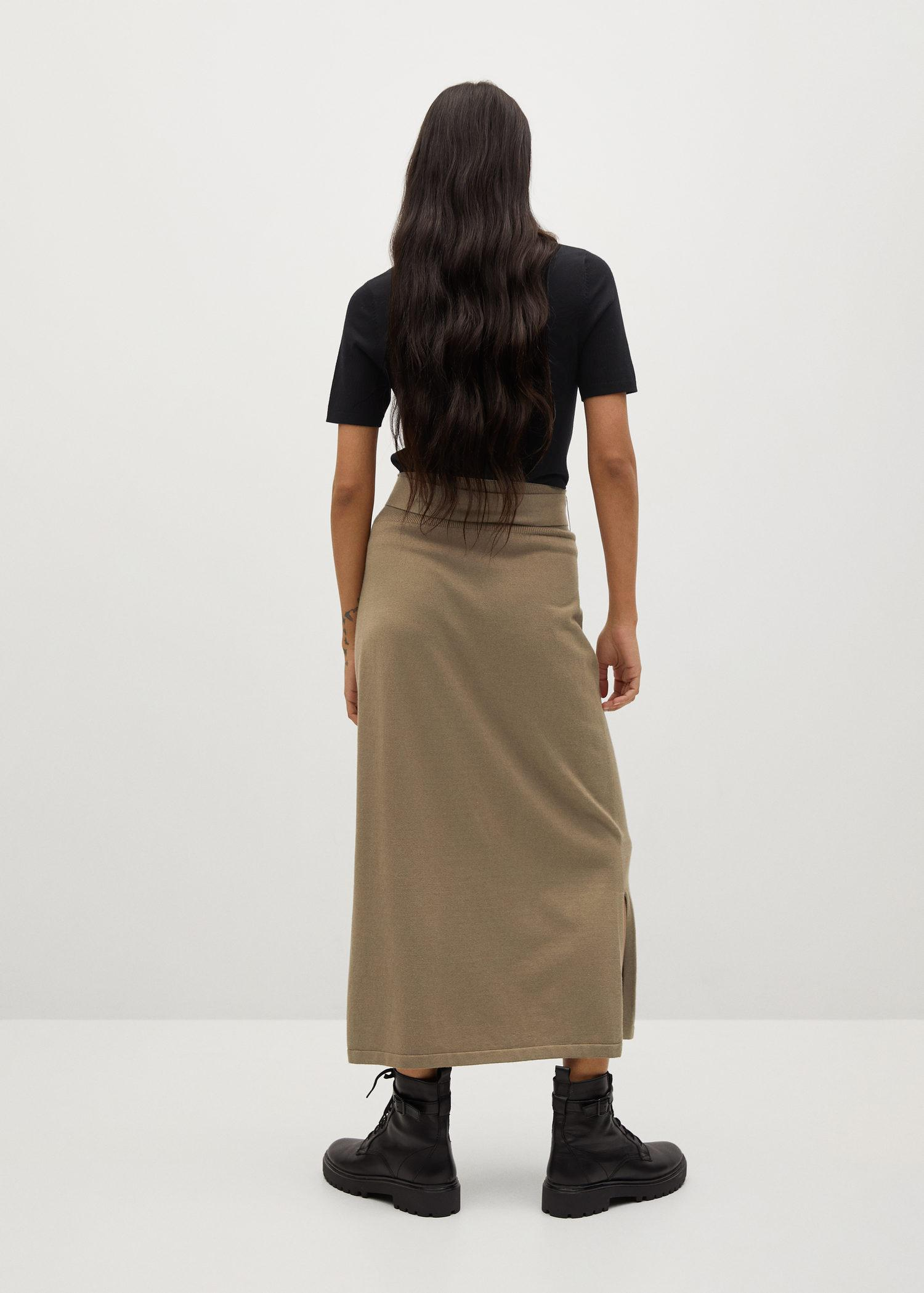 Knitted skirt with belt 2