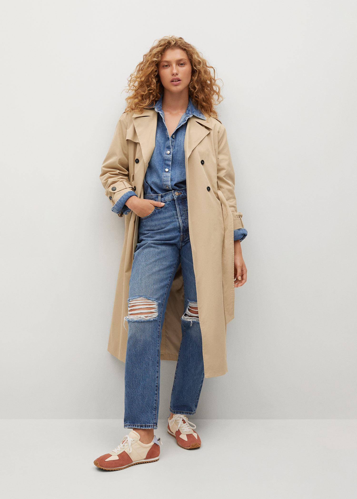 Classic cotton trench coat 1