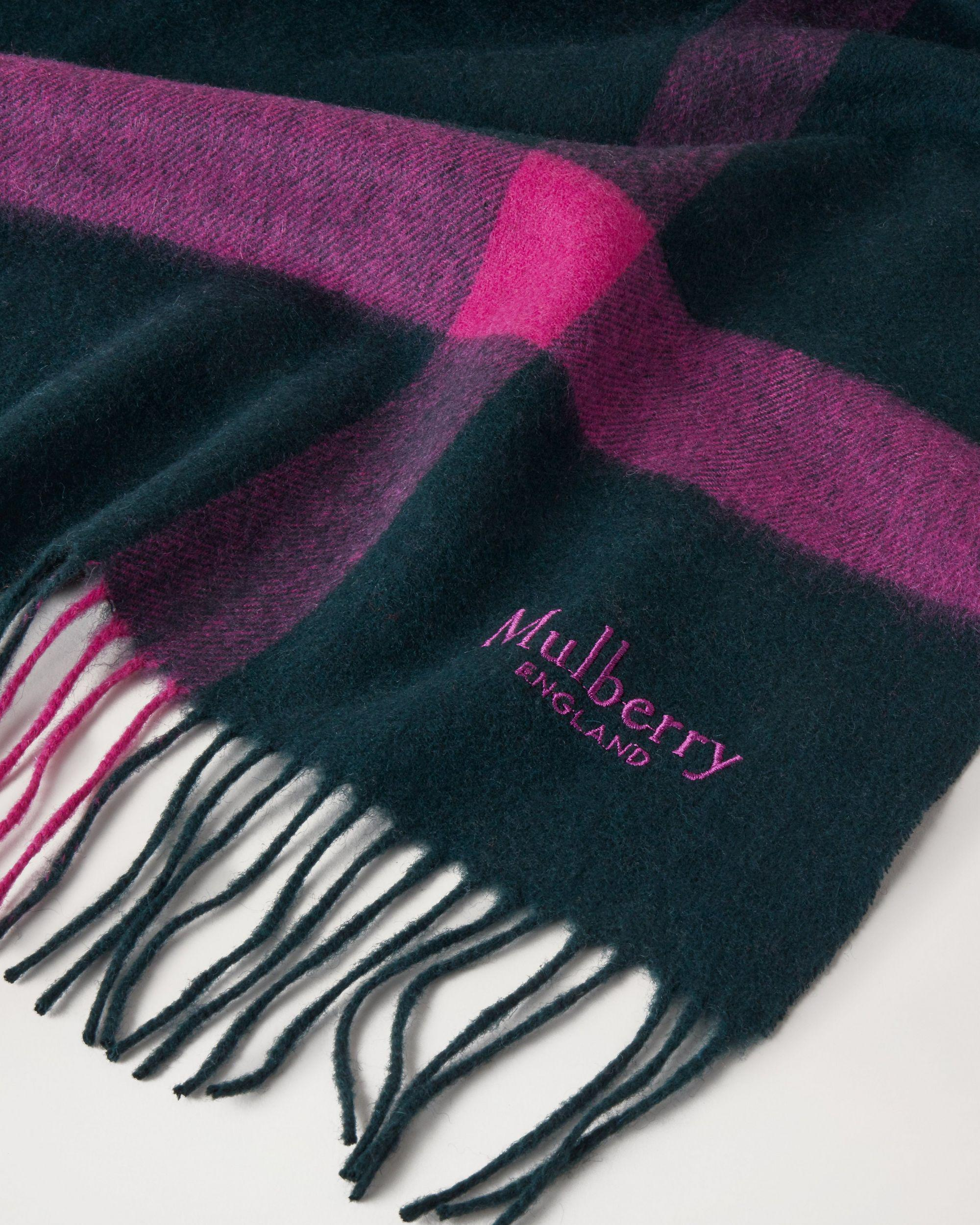 Large Check Lambswool Scarf 1