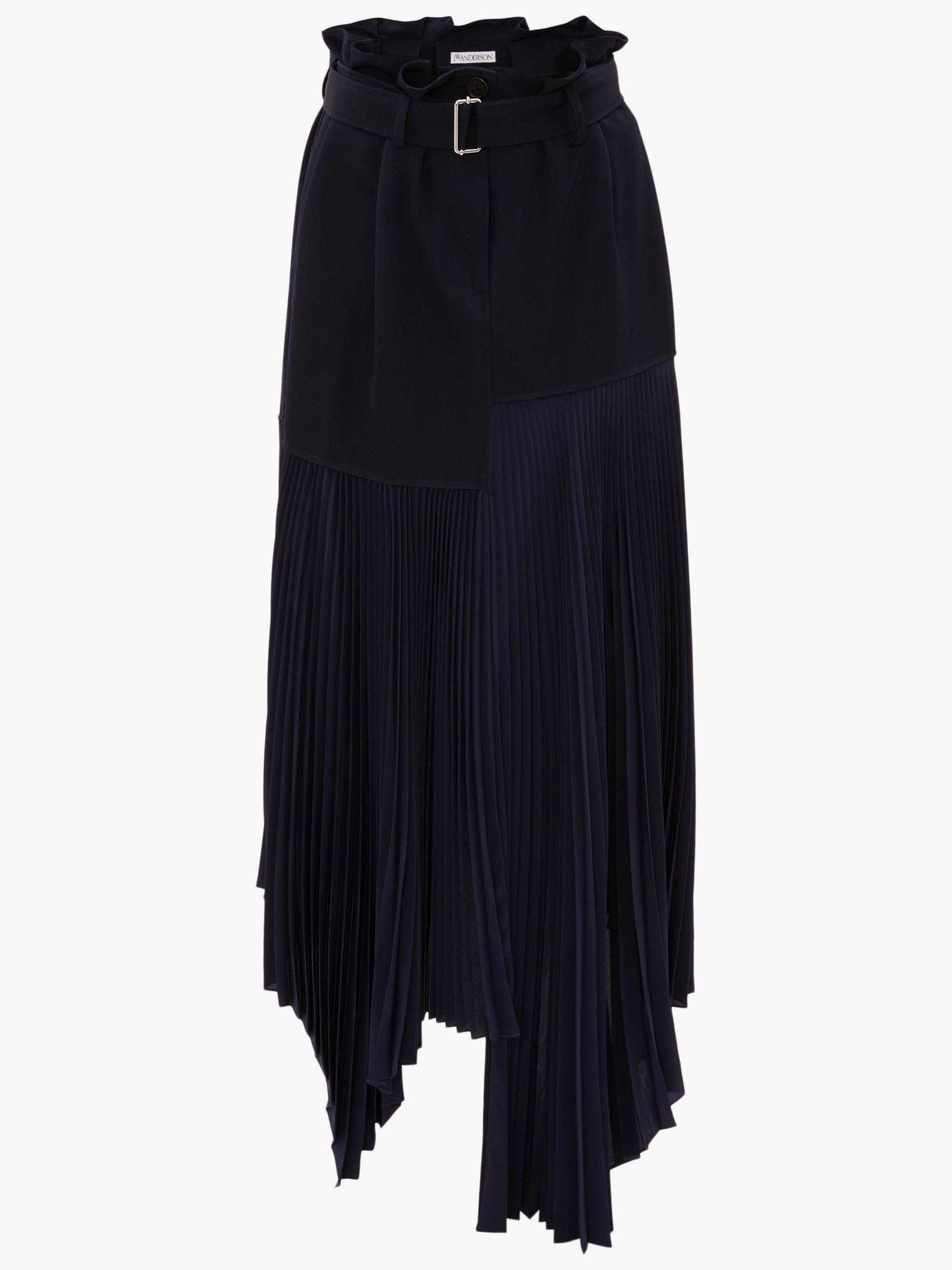 BELTED PLEATED SKIRT 3