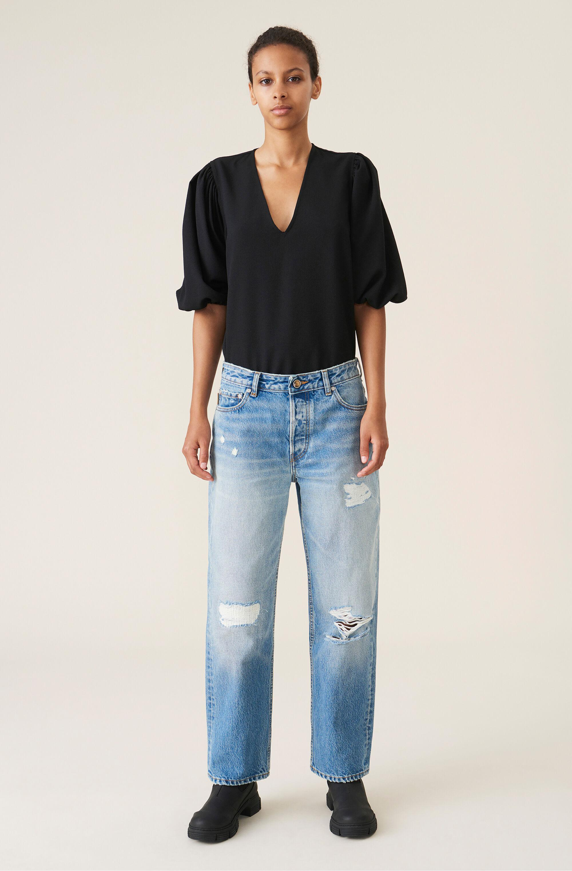 Overwashed Denim Low-waist Relaxed Fit Jeans