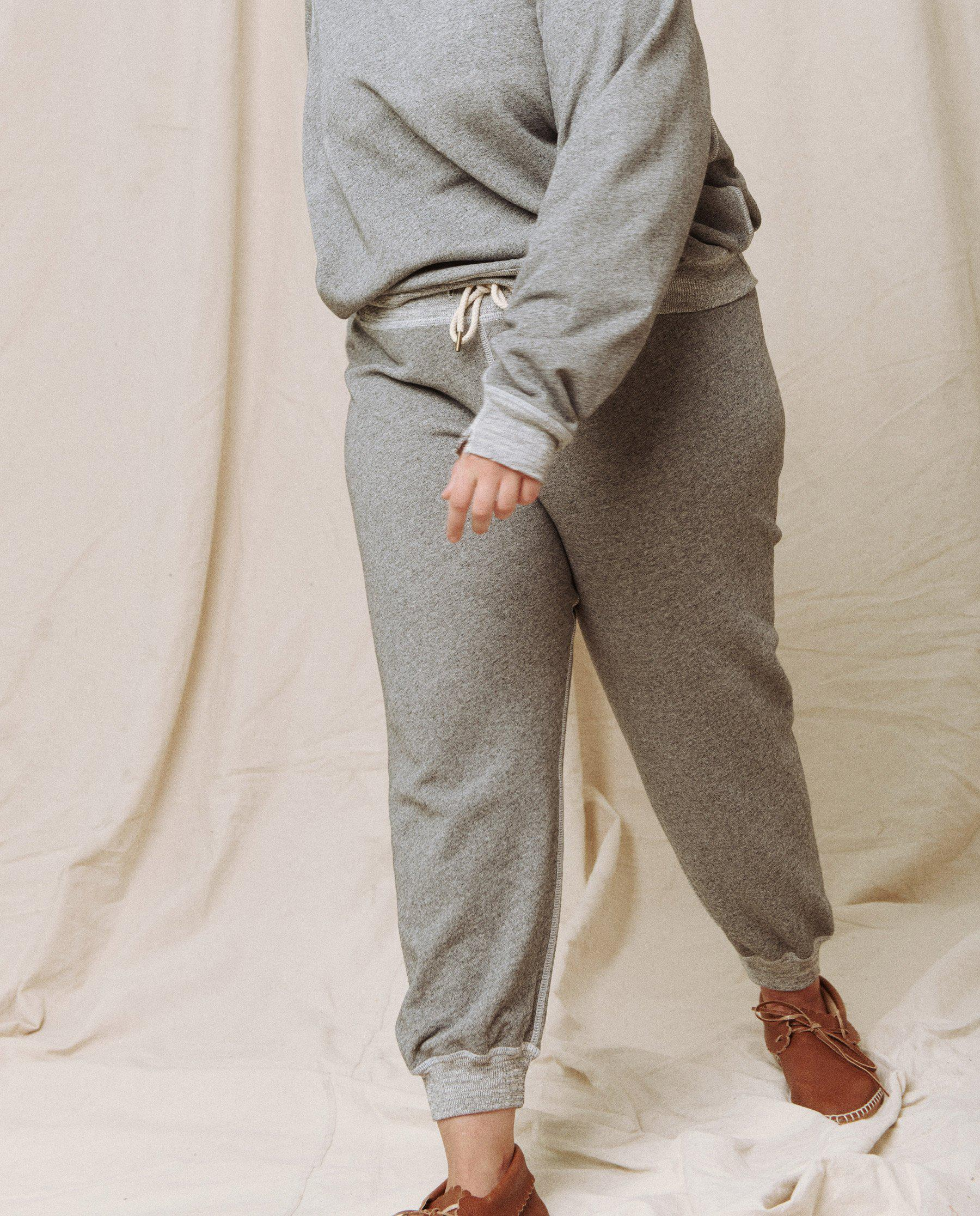 The Cropped Sweatpant. Solid -- Varsity Grey 1