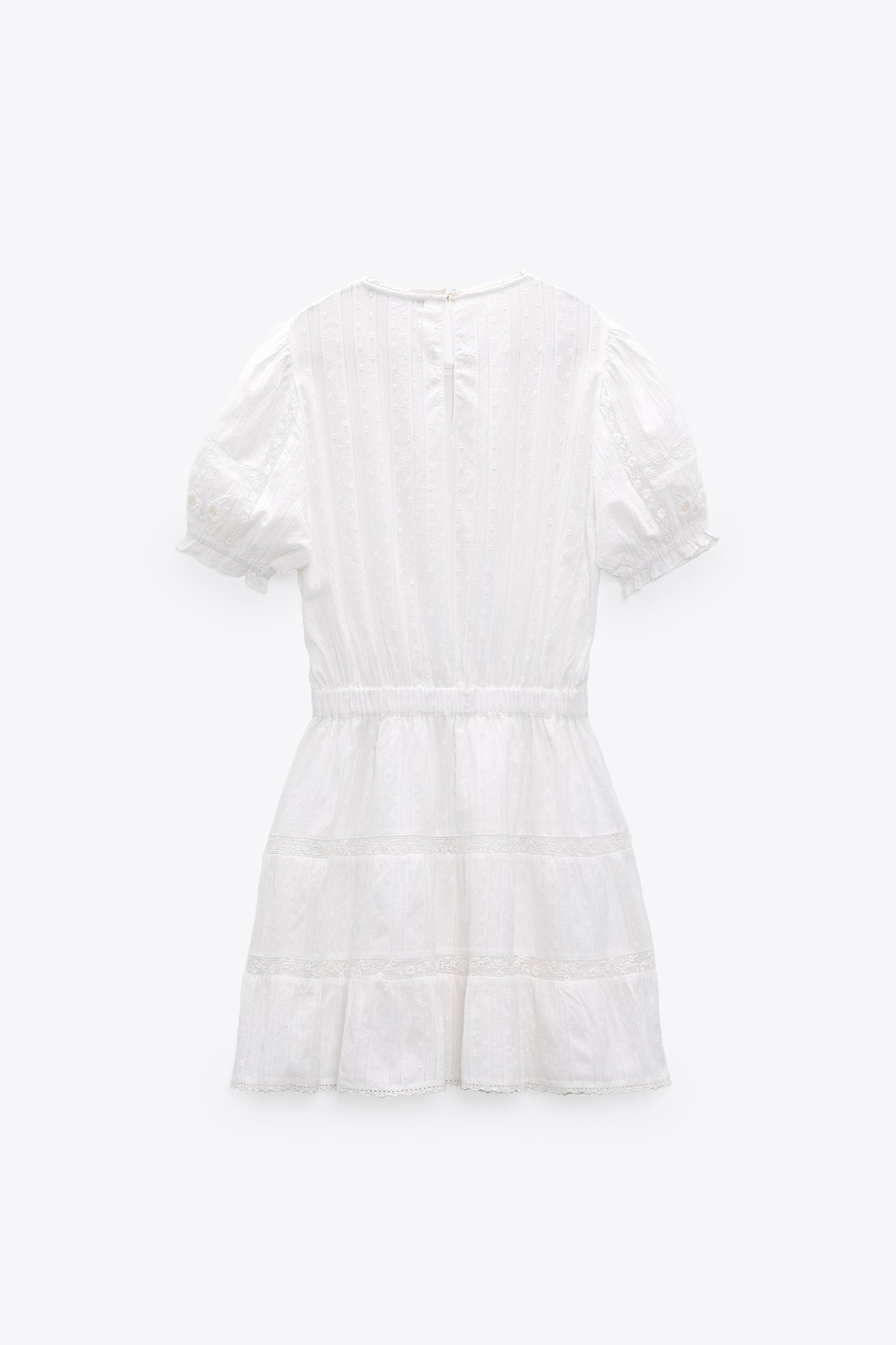 SWISS DOT DRESS WITH EMBROIDERY 7